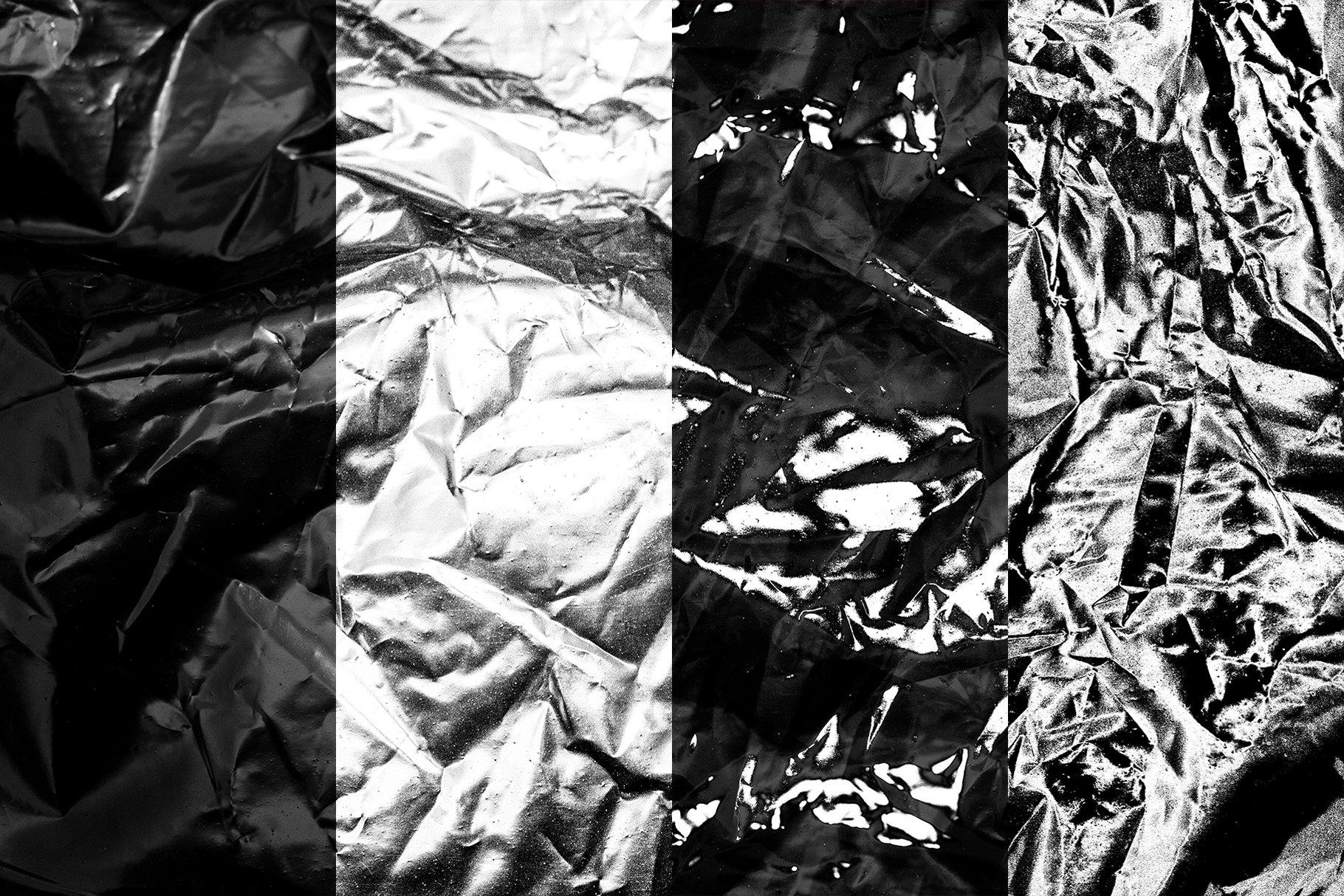 [单独购买] 120款潮流高清折痕褶皱塑料袋纹理海报设计背景图片素材 Visualfear – Plastic Wrap Textures插图6