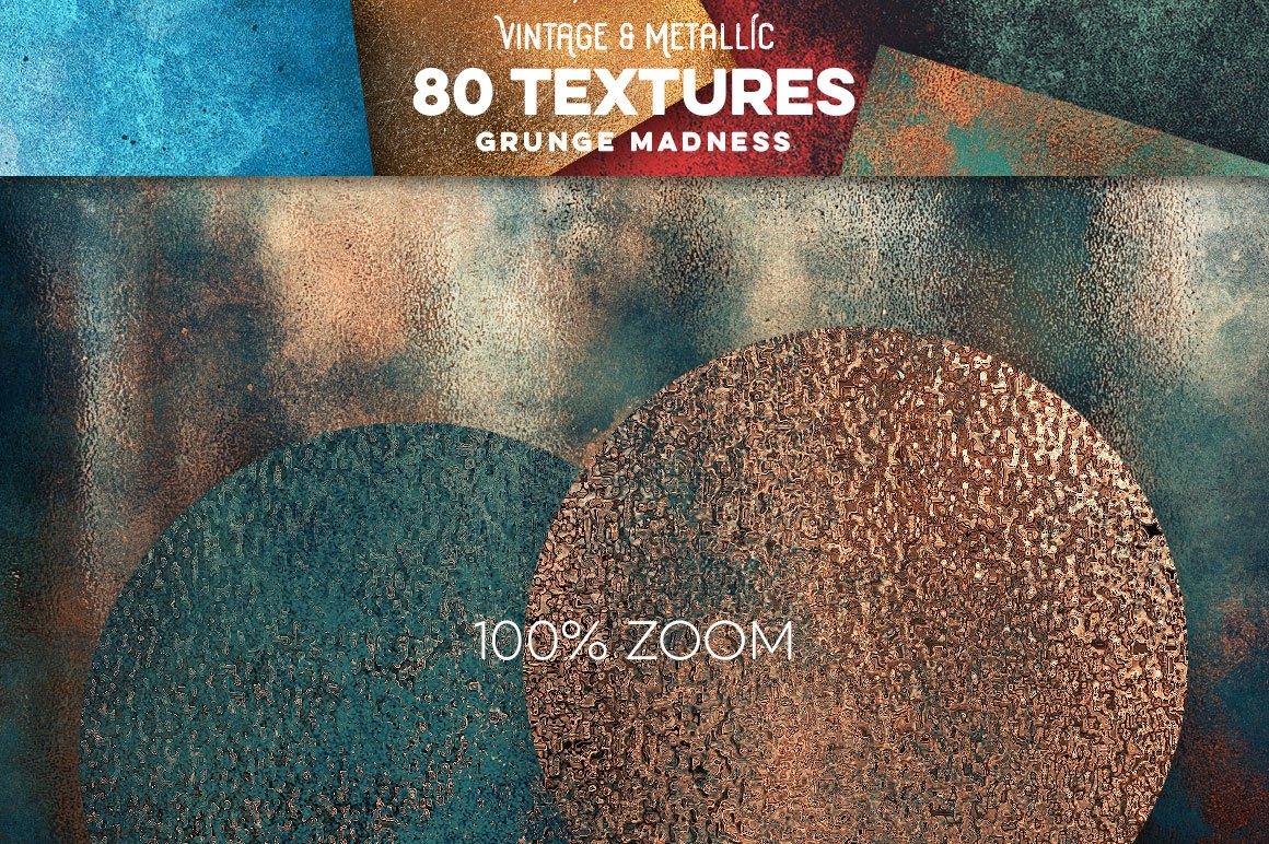 80款复古做旧划痕金属箔纸质感纹理背景图片设计素材 80 Vintage & Metallic Textures插图18