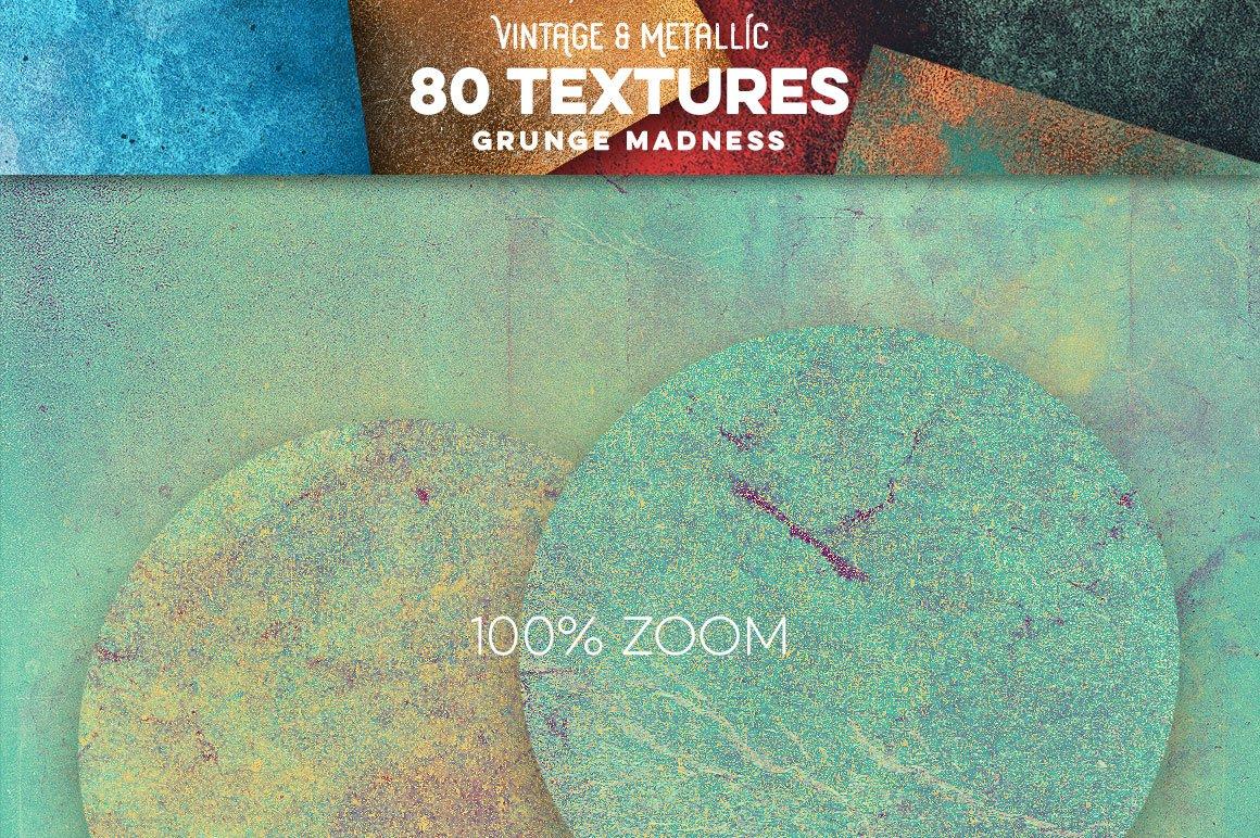 80款复古做旧划痕金属箔纸质感纹理背景图片设计素材 80 Vintage & Metallic Textures插图19