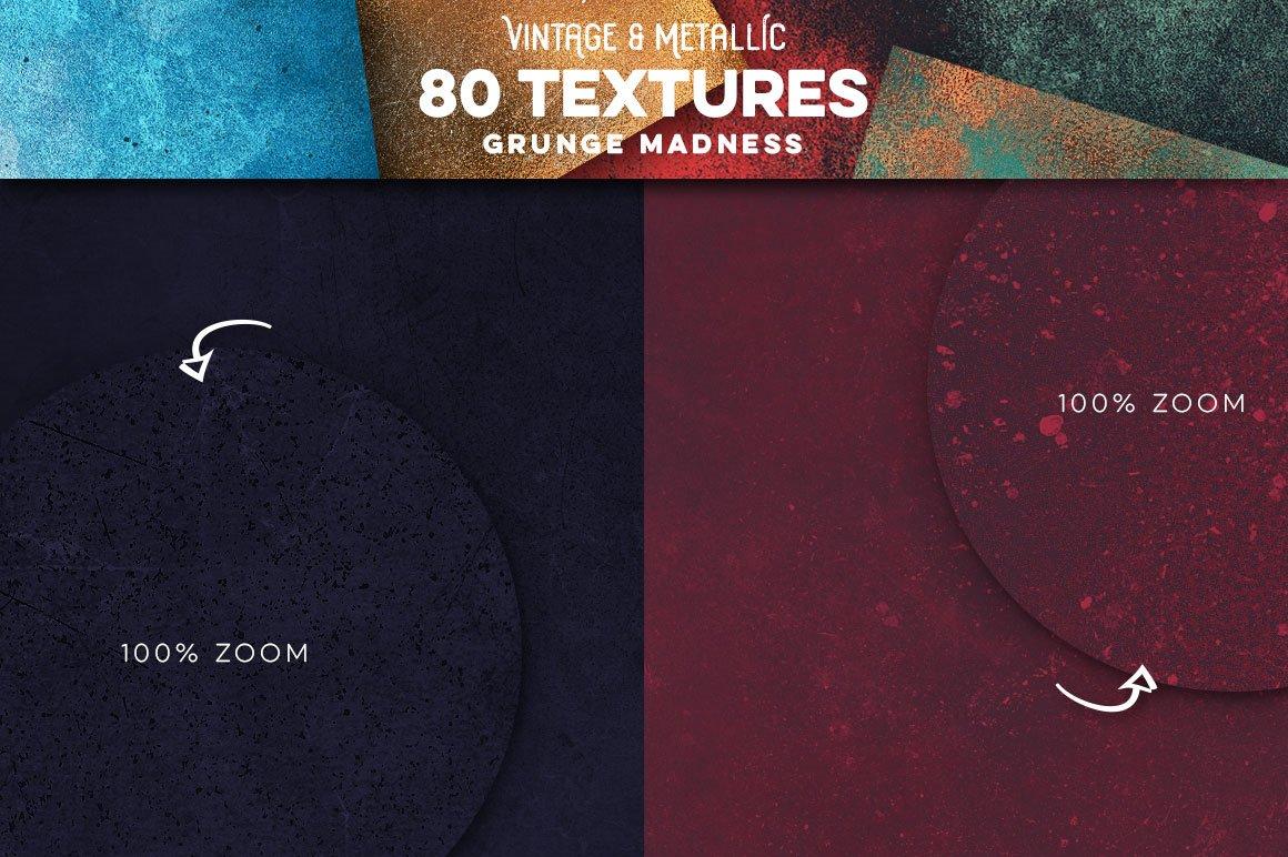 80款复古做旧划痕金属箔纸质感纹理背景图片设计素材 80 Vintage & Metallic Textures插图2