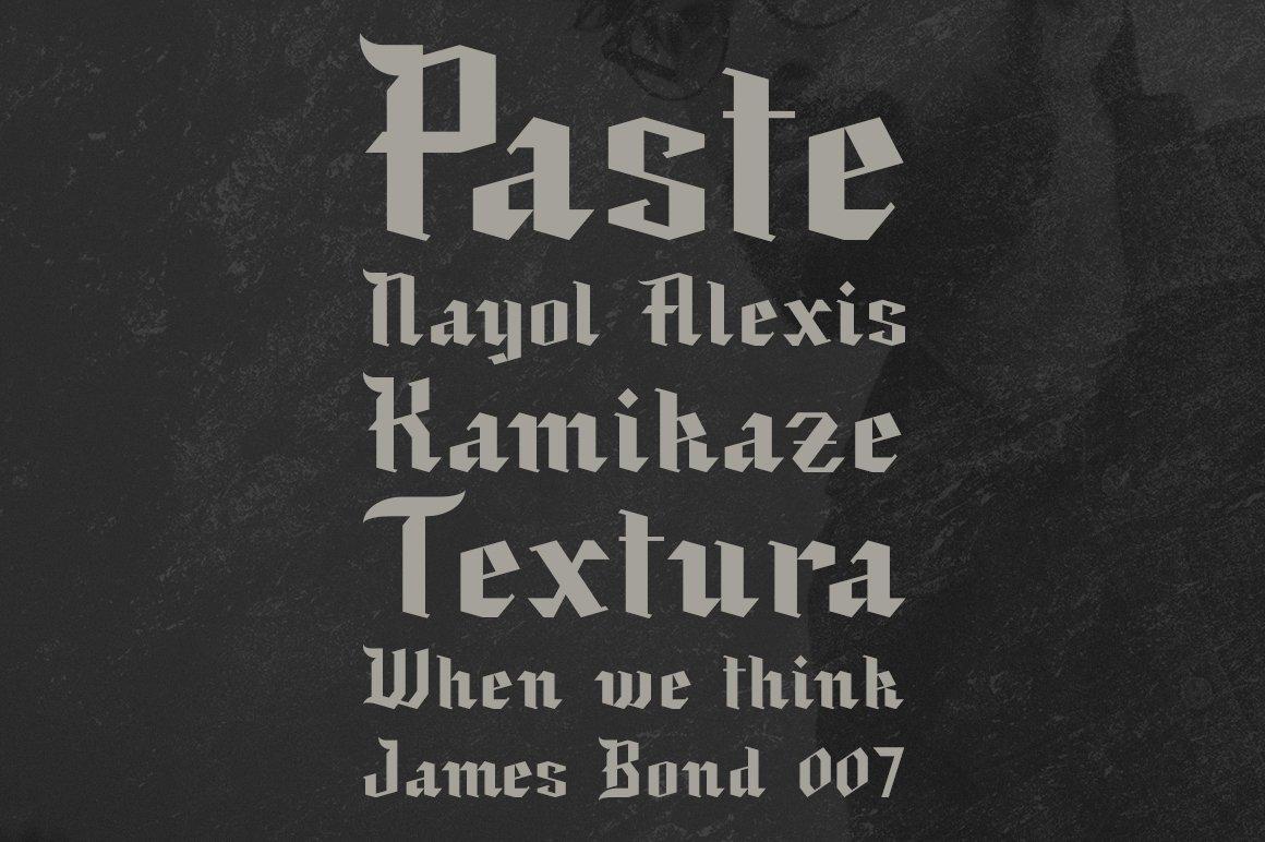 现代复古哥特式斜角杂志海报标题Logo设计衬线英文字体素材 Black Baron – Blackletter Typeface插图1