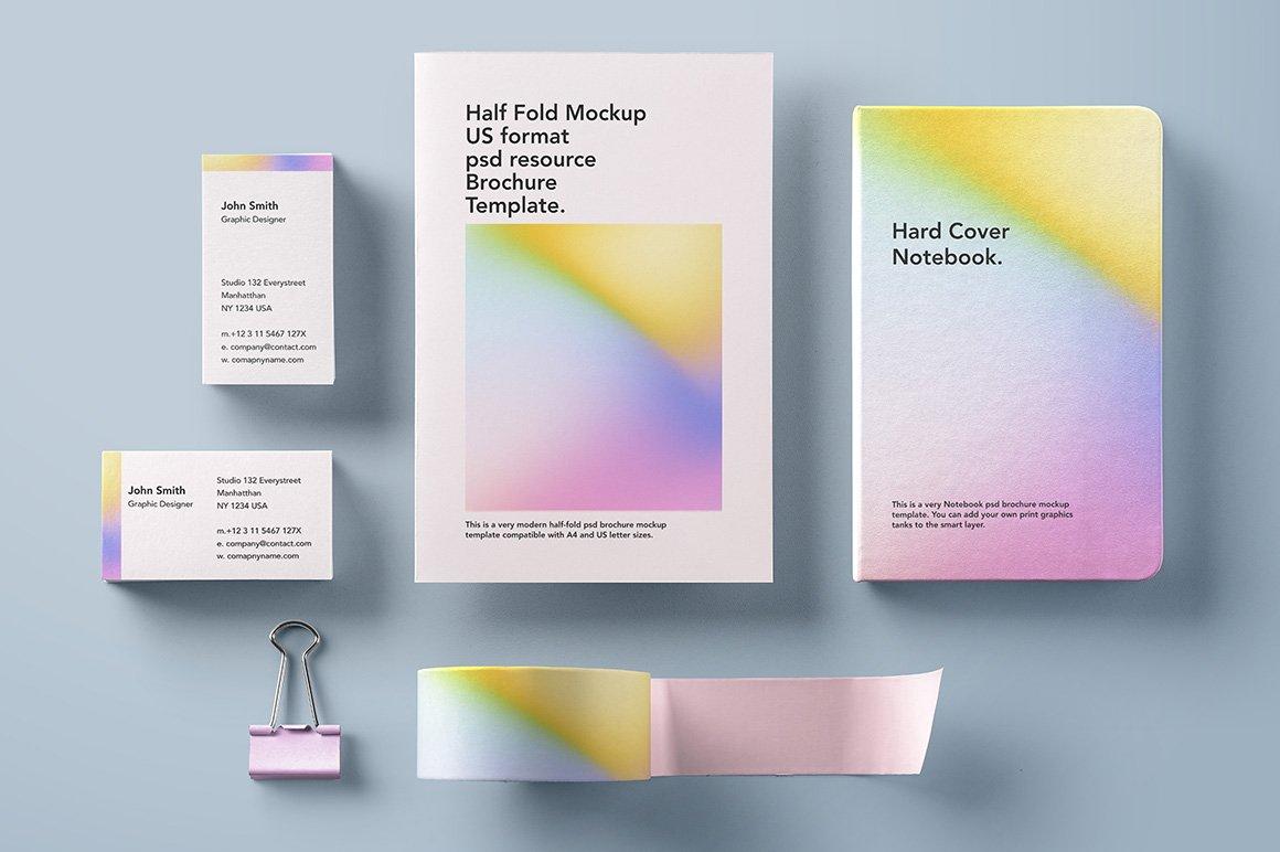 50款潮流全息渐变虹彩海报设计纹理背景图片素材 50 Holographic Backgrounds插图2