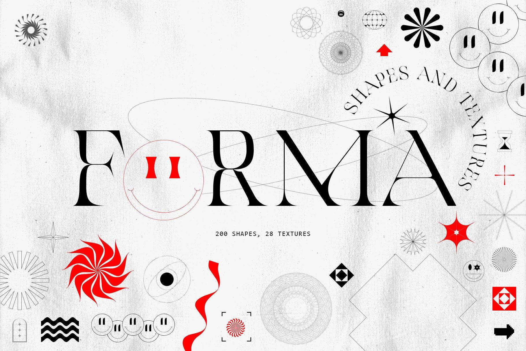 [淘宝购买] 潮流抽象几何形状渐变背景粗糙纹理海报背景设计素材套装 Inartflow – Shapes And Textures插图