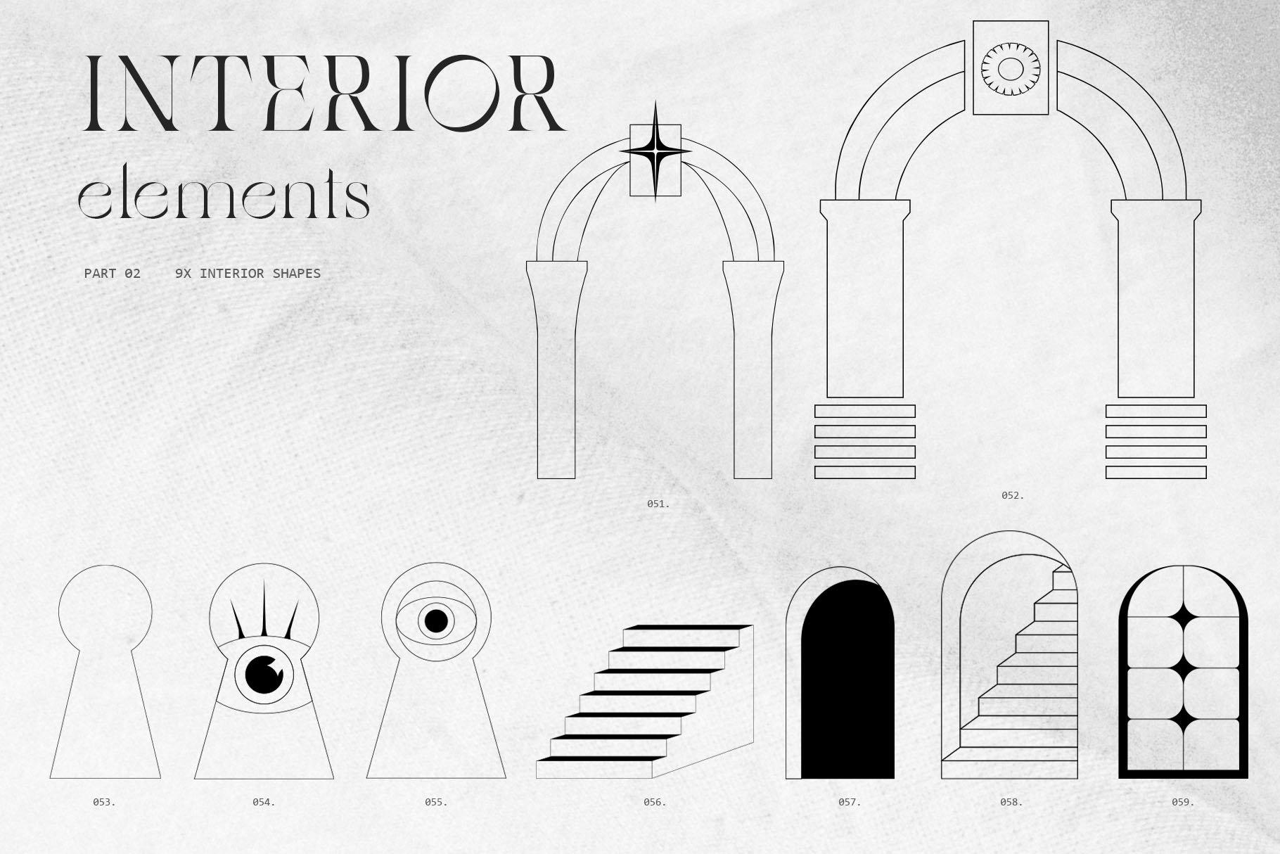 [淘宝购买] 潮流抽象几何形状渐变背景粗糙纹理海报背景设计素材套装 Inartflow – Shapes And Textures插图3
