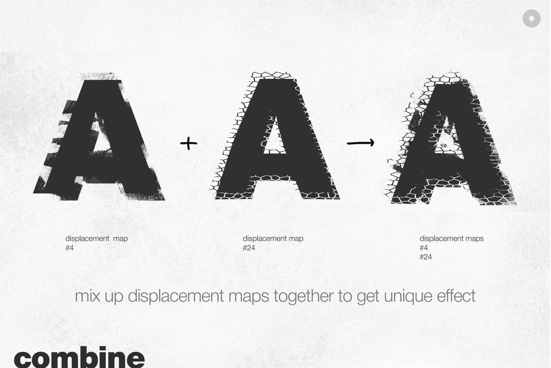 潮流创意抽象故障扭曲置换海报字体特效PS设计素材 Kinetic – Displacement Maps插图4