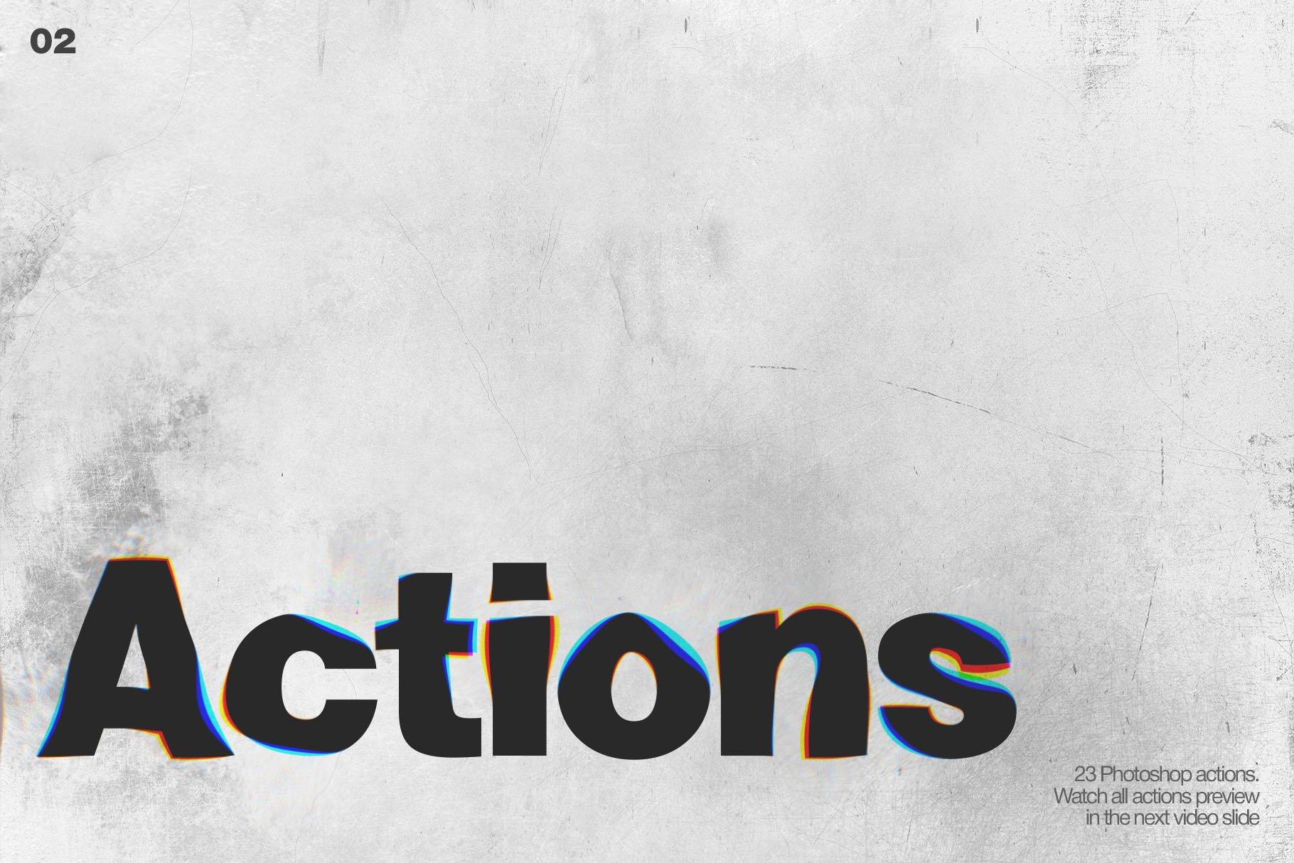 潮流创意抽象故障扭曲置换海报字体特效PS设计素材 Kinetic – Displacement Maps插图6