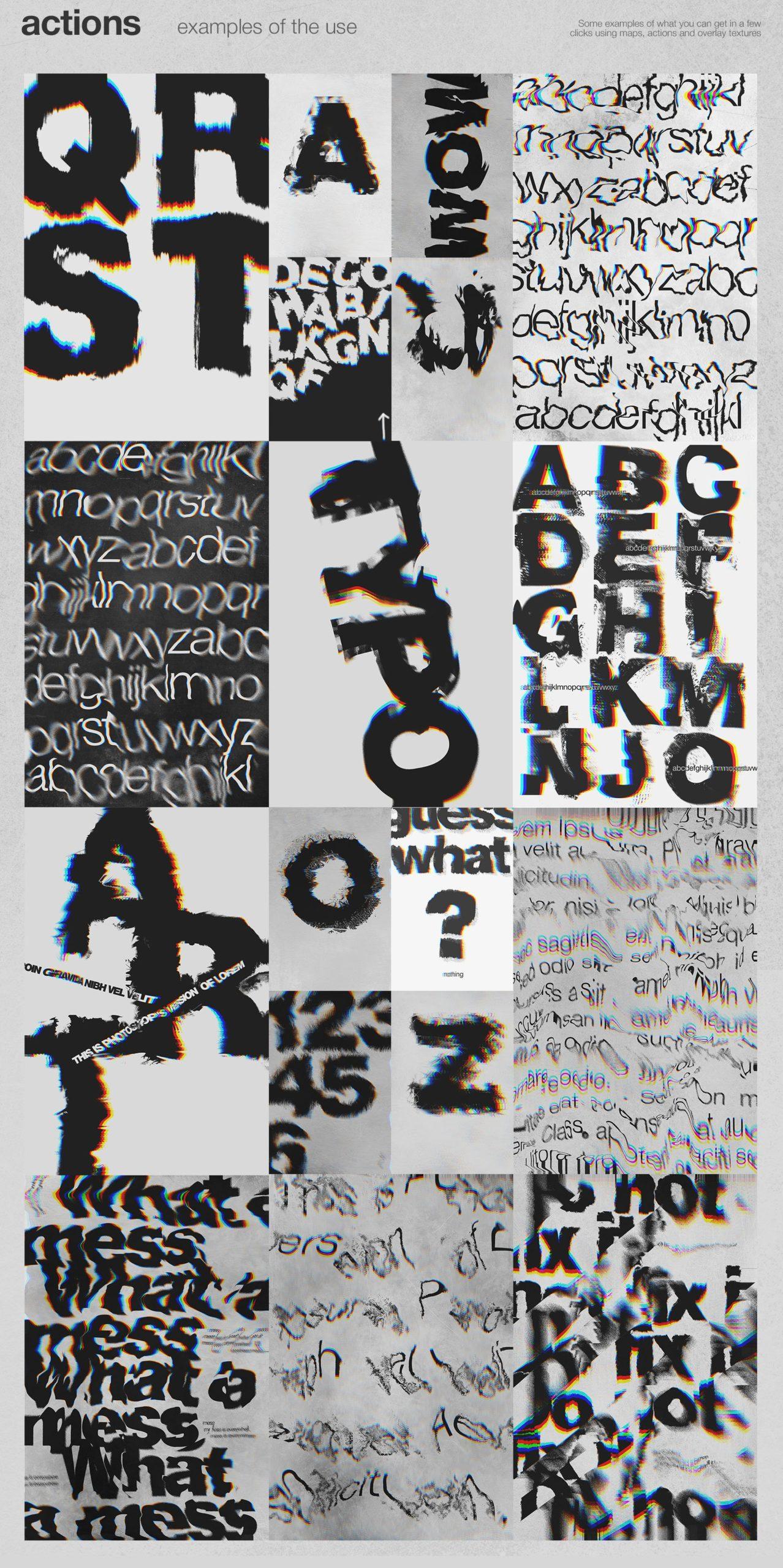 潮流创意抽象故障扭曲置换海报字体特效PS设计素材 Kinetic – Displacement Maps插图7