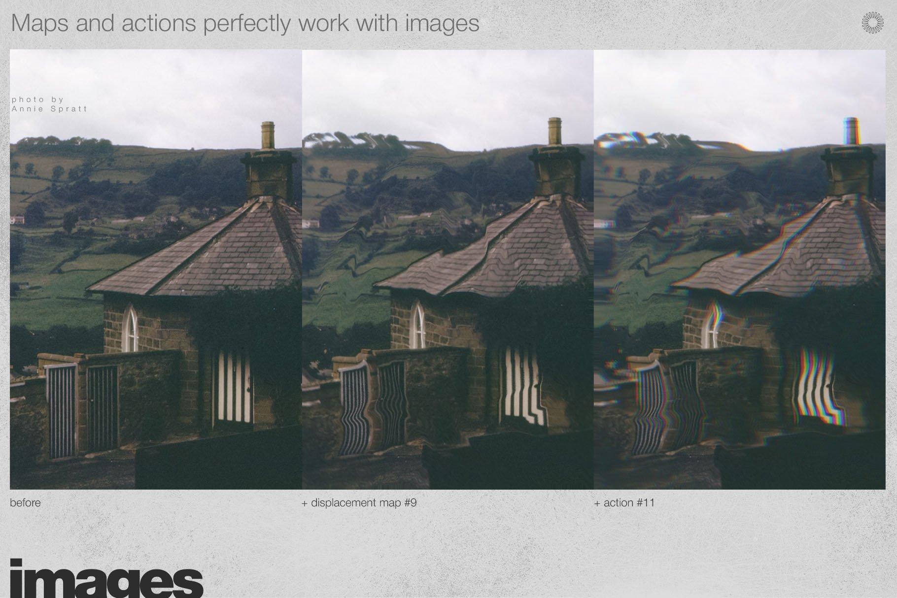 潮流创意抽象故障扭曲置换海报字体特效PS设计素材 Kinetic – Displacement Maps插图8