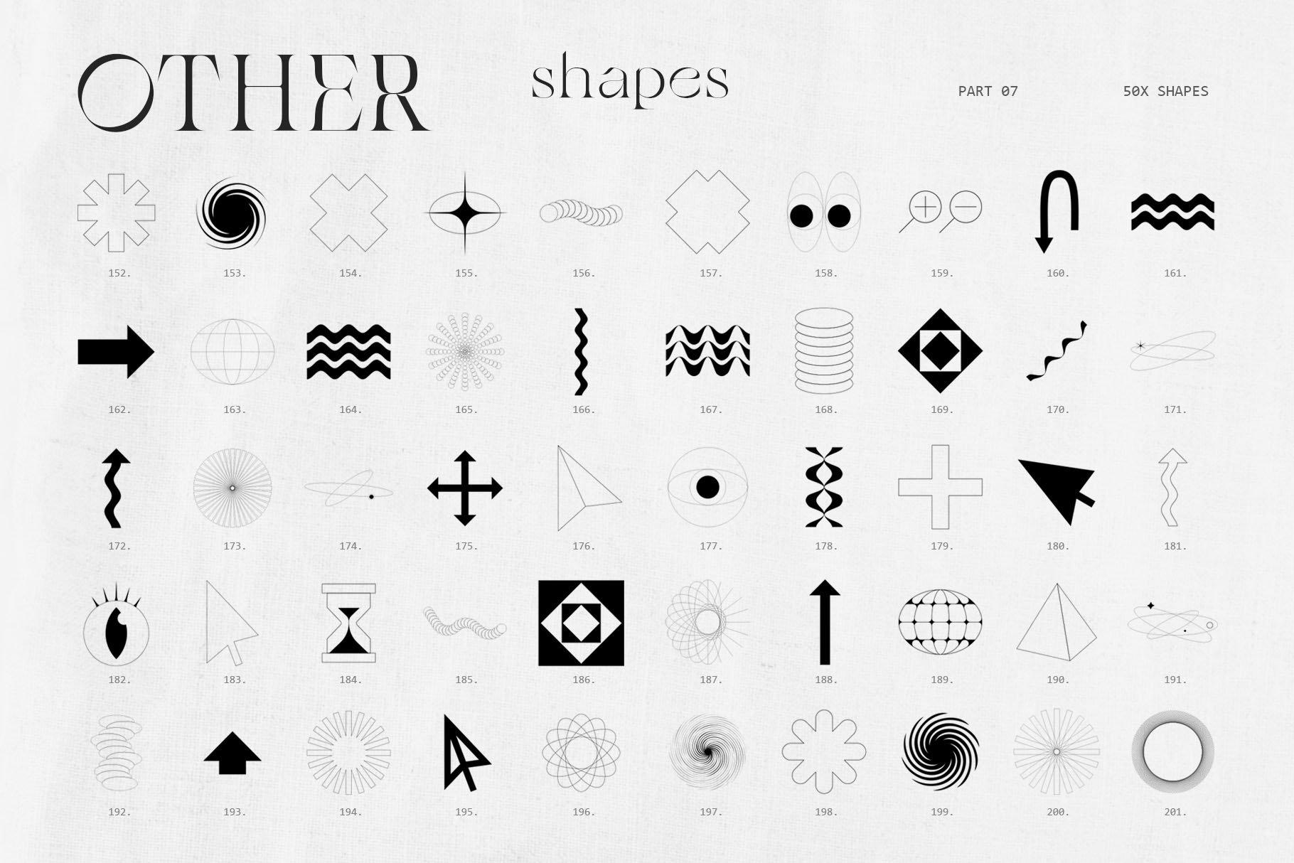 [淘宝购买] 潮流抽象几何形状渐变背景粗糙纹理海报背景设计素材套装 Inartflow – Shapes And Textures插图8