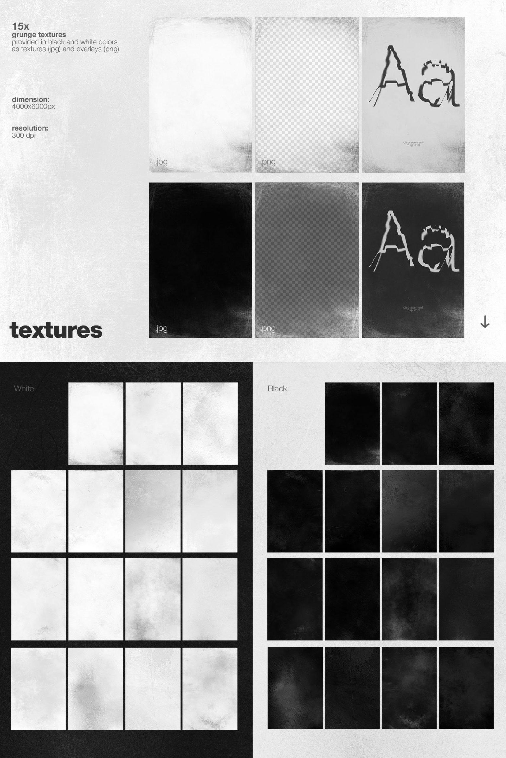 潮流创意抽象故障扭曲置换海报字体特效PS设计素材 Kinetic – Displacement Maps插图9