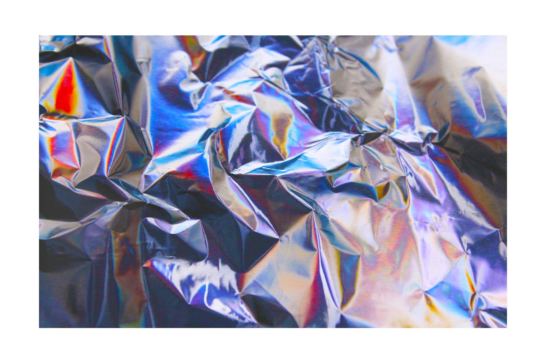 [淘宝购买] 90款潮流炫彩全息镭射金属箔纸海报设计肌理纹理背景图片设计素材 90 Holographic Foil Textures插图1
