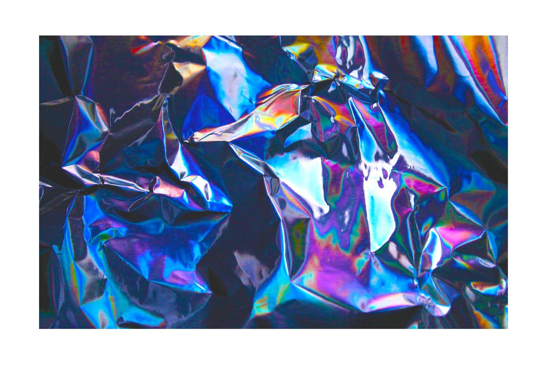 [淘宝购买] 90款潮流炫彩全息镭射金属箔纸海报设计肌理纹理背景图片设计素材 90 Holographic Foil Textures插图2