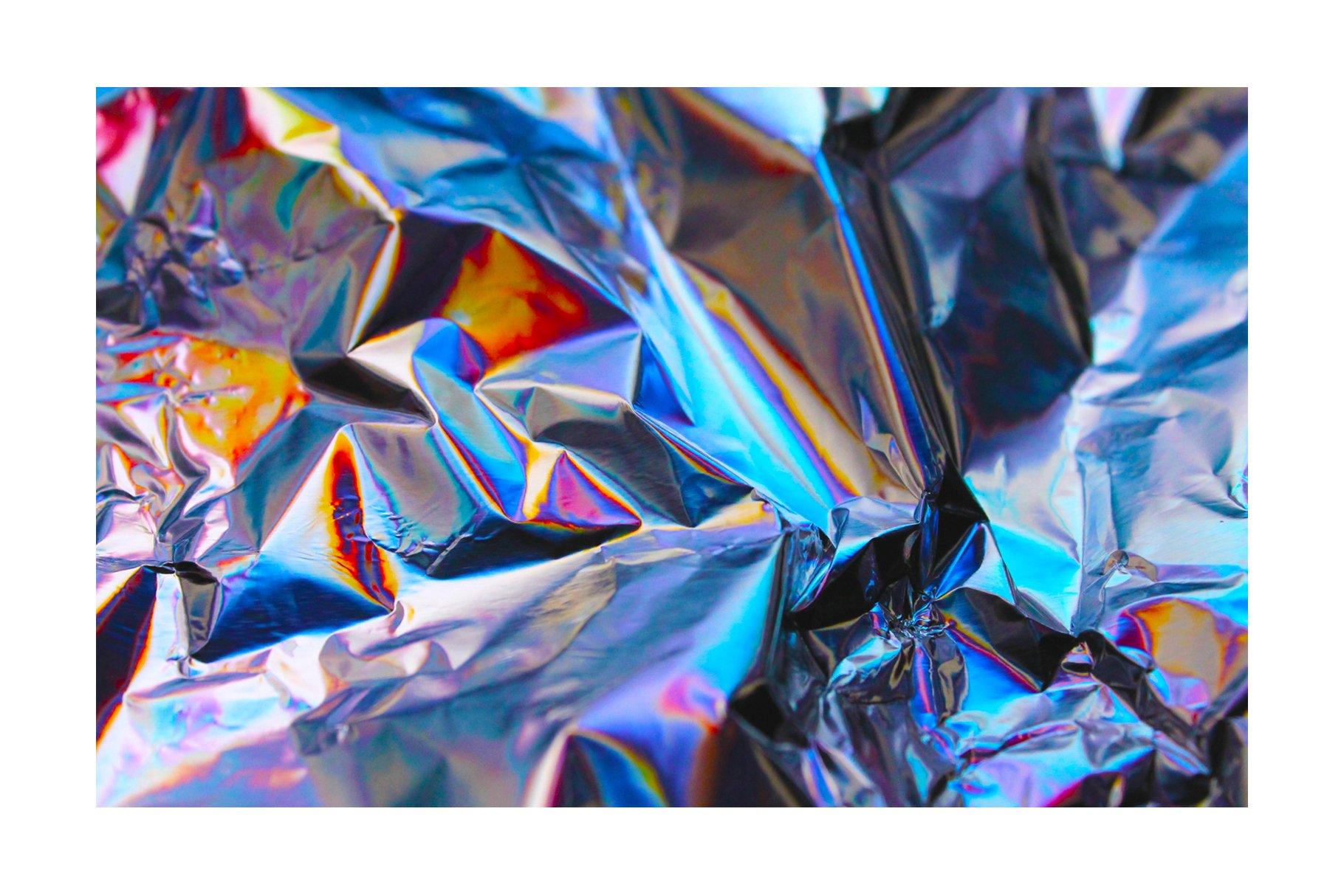 [淘宝购买] 90款潮流炫彩全息镭射金属箔纸海报设计肌理纹理背景图片设计素材 90 Holographic Foil Textures插图3