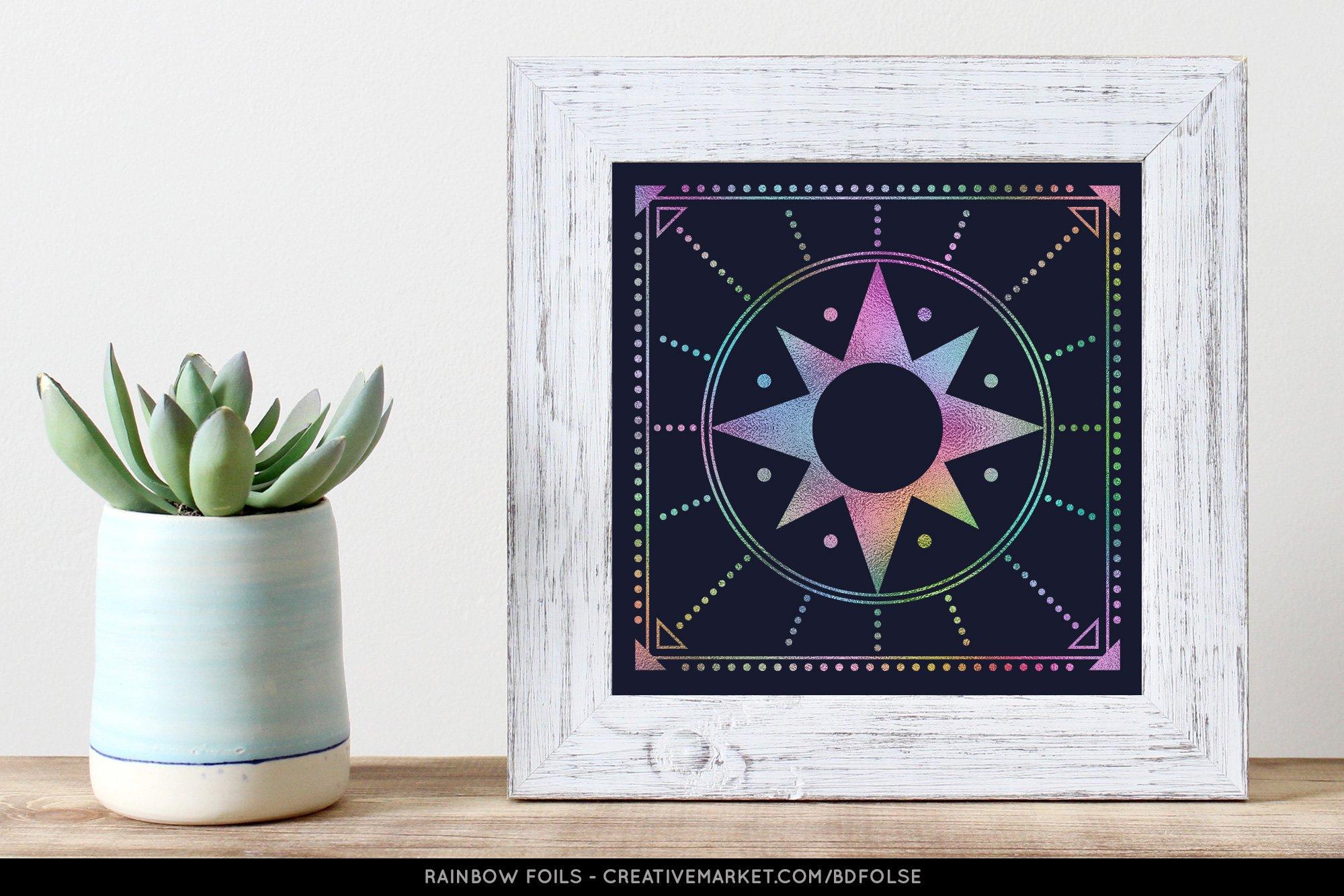 76款无缝隙炫彩虹彩箔纸海报背景图片设计素材 76 Rainbow Foils插图1