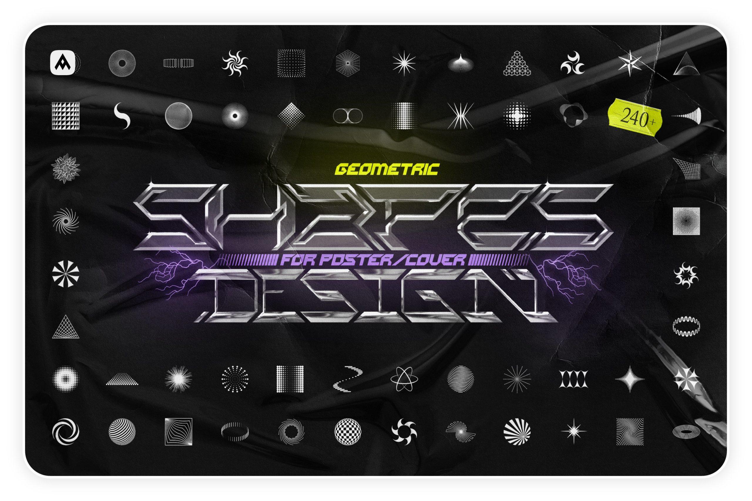 [淘宝购买] 时尚潮流抽象扭曲多边形几何海报设计矢量设计素材 Geometric Shapes For Poster Design插图
