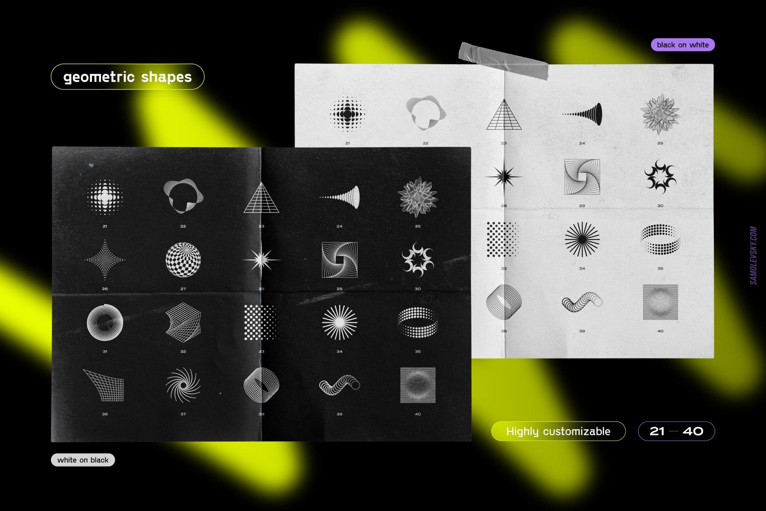 [淘宝购买] 时尚潮流抽象扭曲多边形几何海报设计矢量设计素材 Geometric Shapes For Poster Design插图7