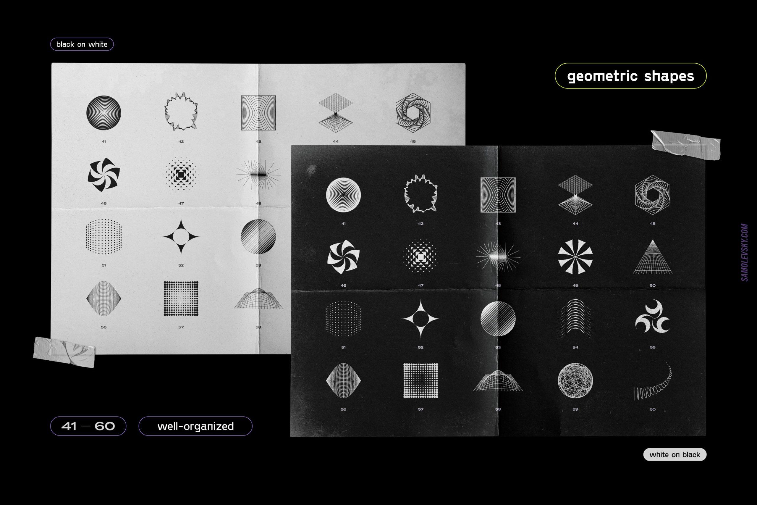 [淘宝购买] 时尚潮流抽象扭曲多边形几何海报设计矢量设计素材 Geometric Shapes For Poster Design插图9