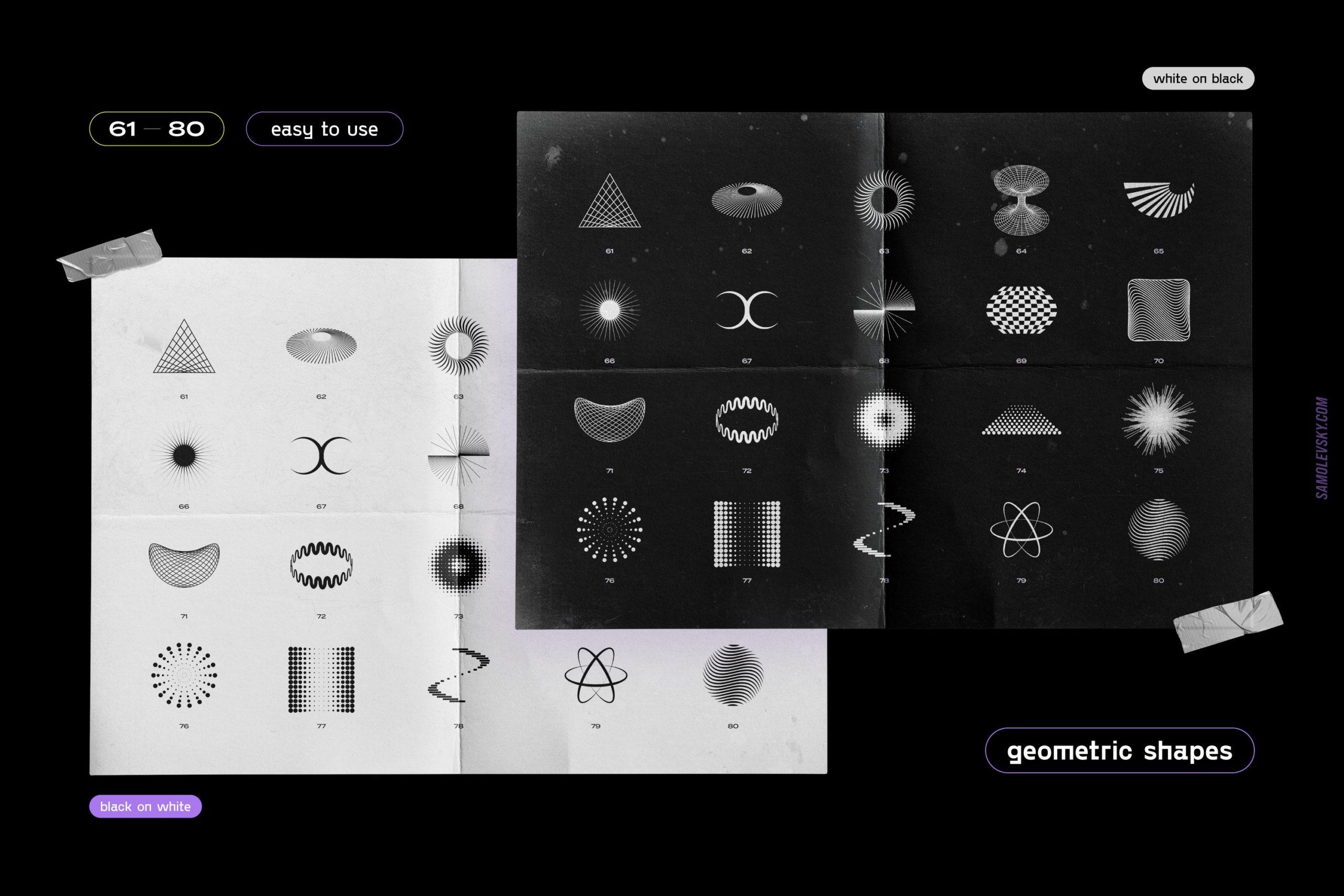[淘宝购买] 时尚潮流抽象扭曲多边形几何海报设计矢量设计素材 Geometric Shapes For Poster Design插图11