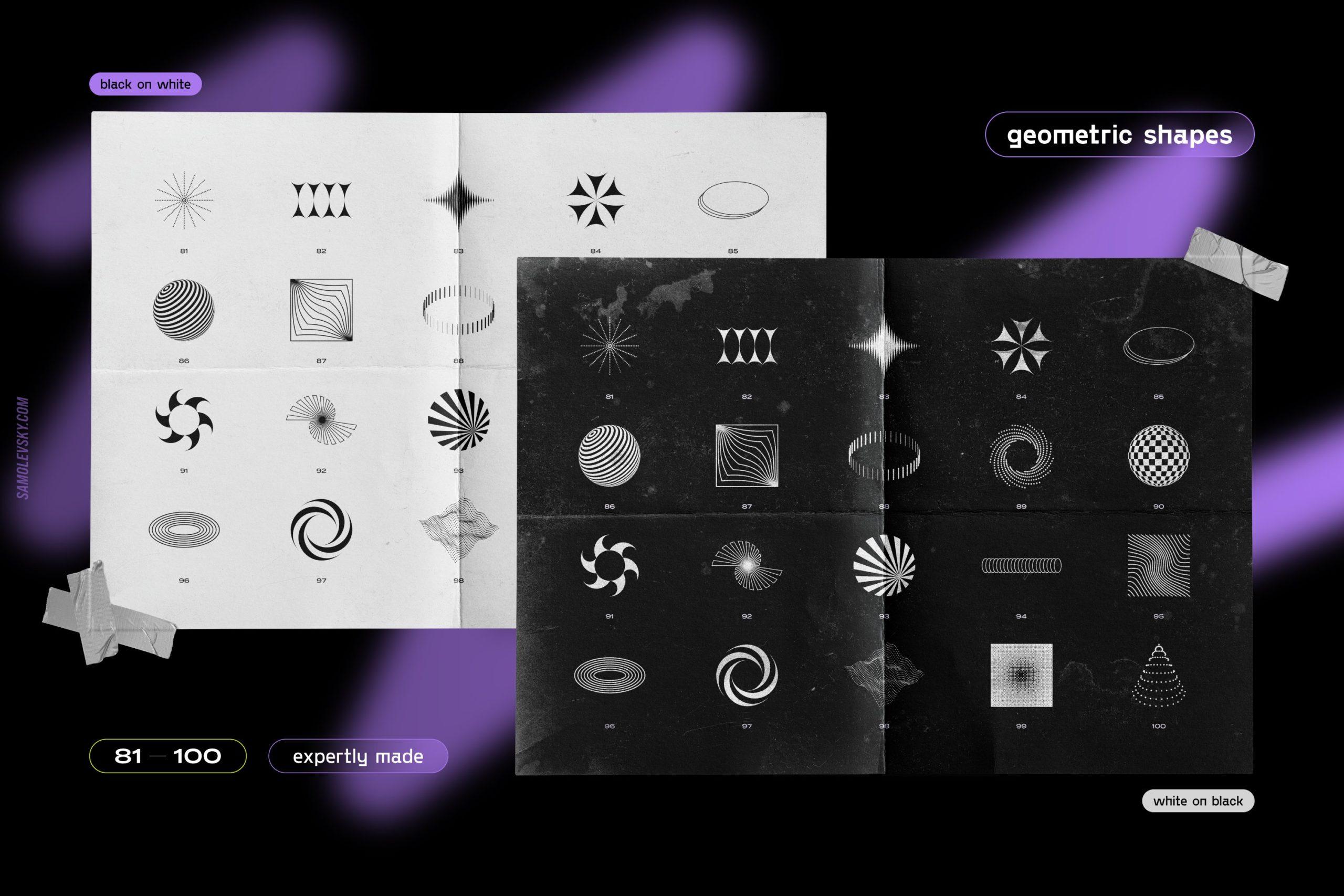 [淘宝购买] 时尚潮流抽象扭曲多边形几何海报设计矢量设计素材 Geometric Shapes For Poster Design插图13