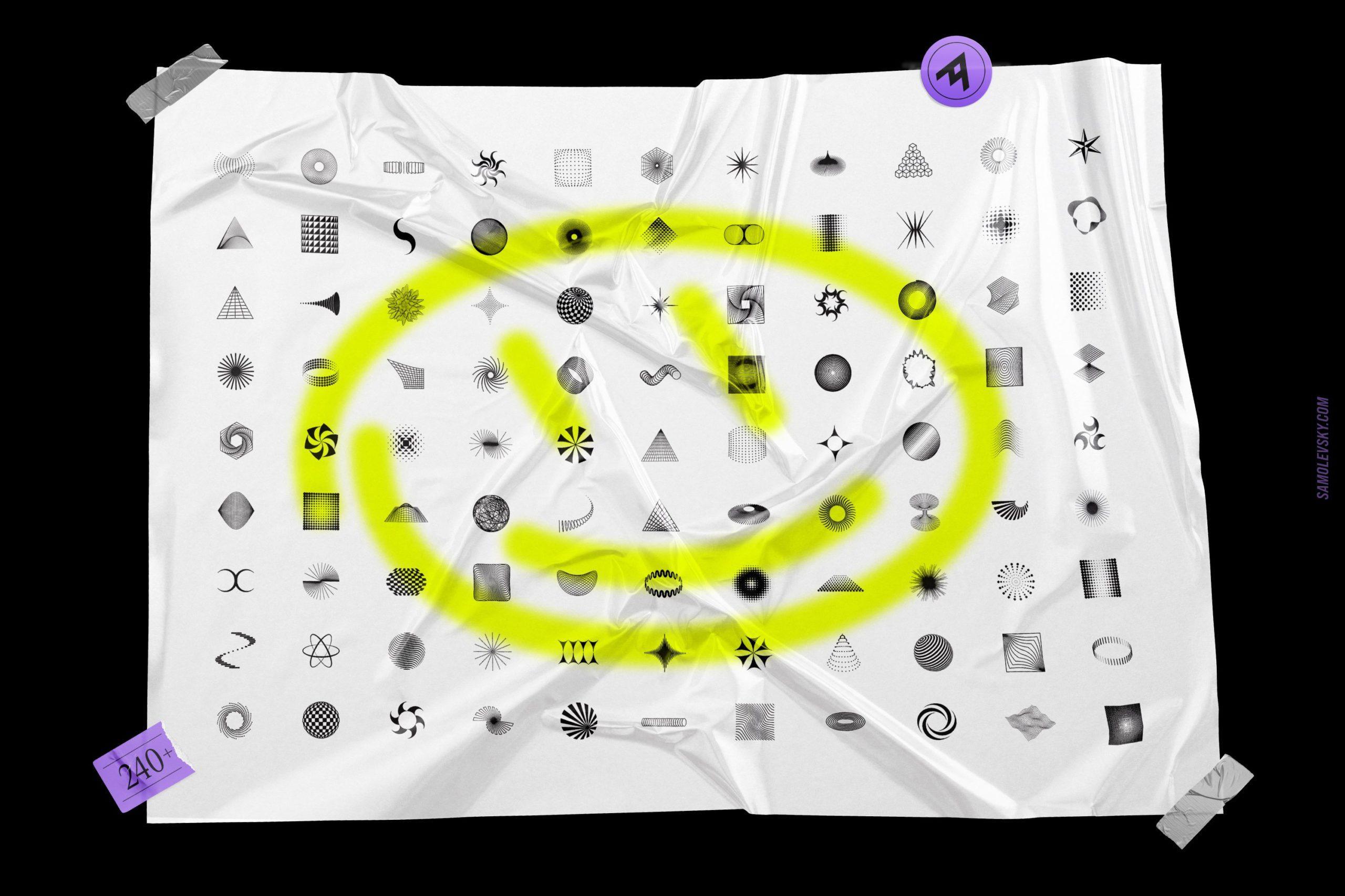 [淘宝购买] 时尚潮流抽象扭曲多边形几何海报设计矢量设计素材 Geometric Shapes For Poster Design插图15
