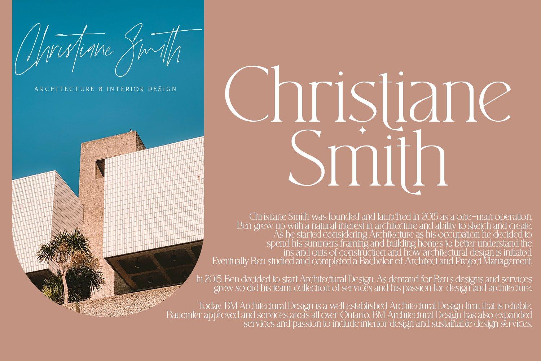 现代优雅杂志标题徽标Logo设计衬线手写英文字体素材 South Amsterdam Font Duo & Logos插图2