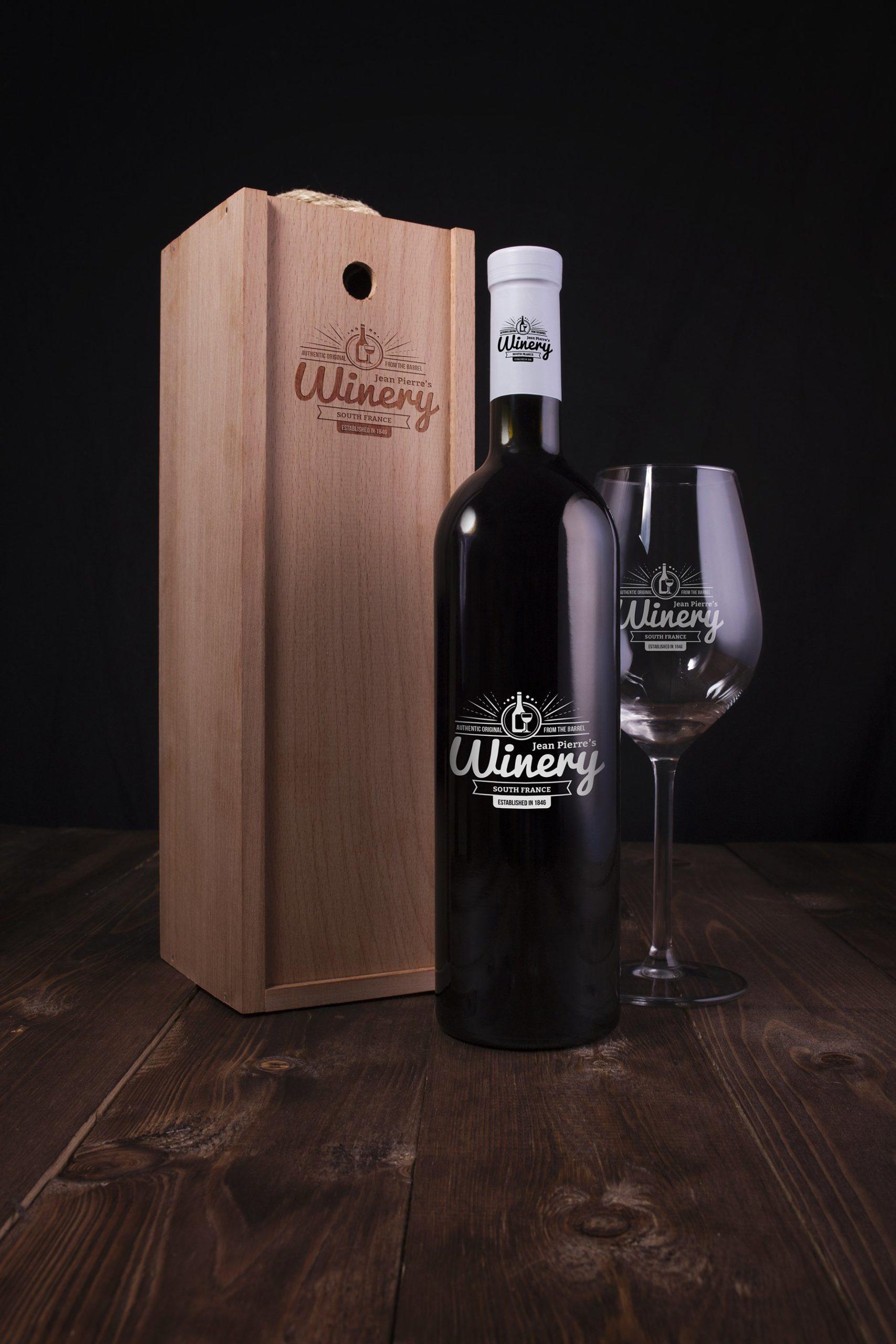 6款高品质葡萄酒木质盒子设计展示贴图样机 Wine Bottle And Box Mockups插图7