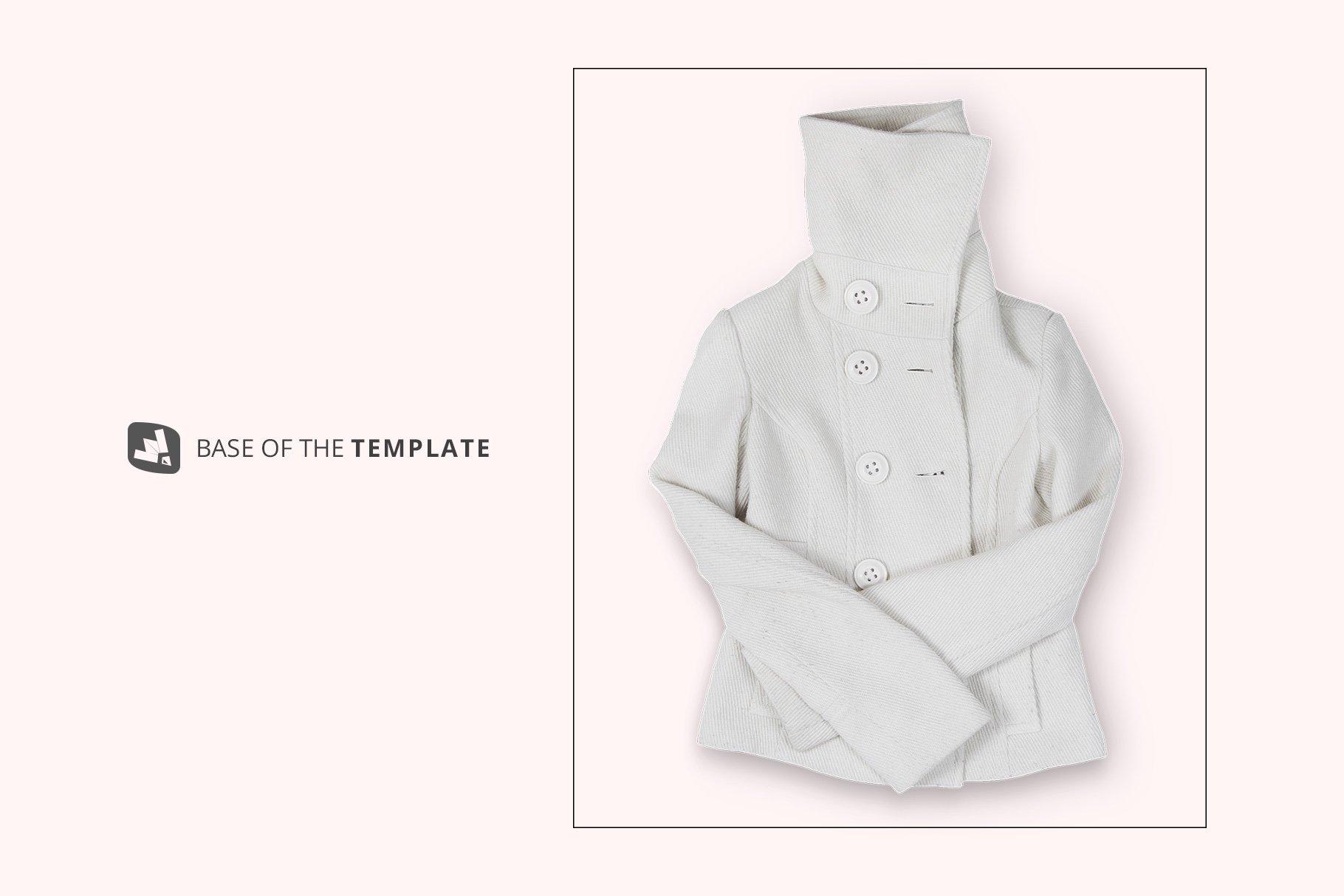 新潮女式冬季高领夹克印花图案设计PS贴图样机模板 Womens High Collar Jacket Mockup插图9