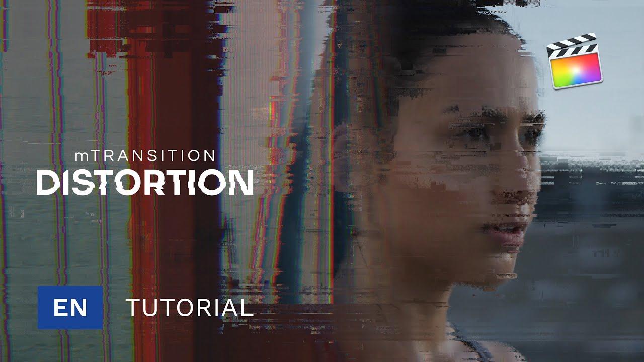 [单独购买] 潮流扭曲故障风视频转场特效编辑FCPX插件素材 MotionVFX – mTransition Distortion插图