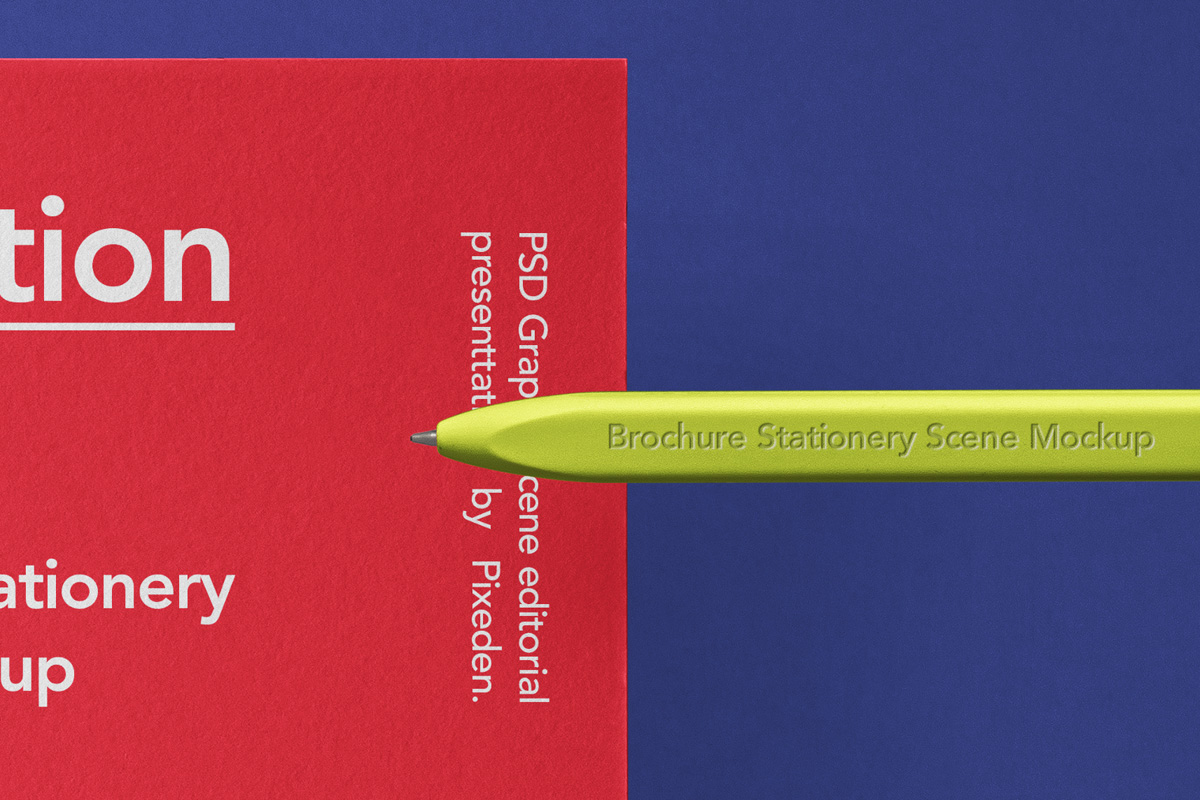 时尚品牌VI设计办公用品展示贴图样机 Stationery Psd Brochure Envelope Mockup插图1