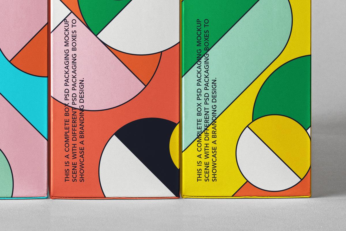 精美产品包装纸盒外观设计PSD样机合集 Spine Psd Boxes Packaging Mockup Set插图3