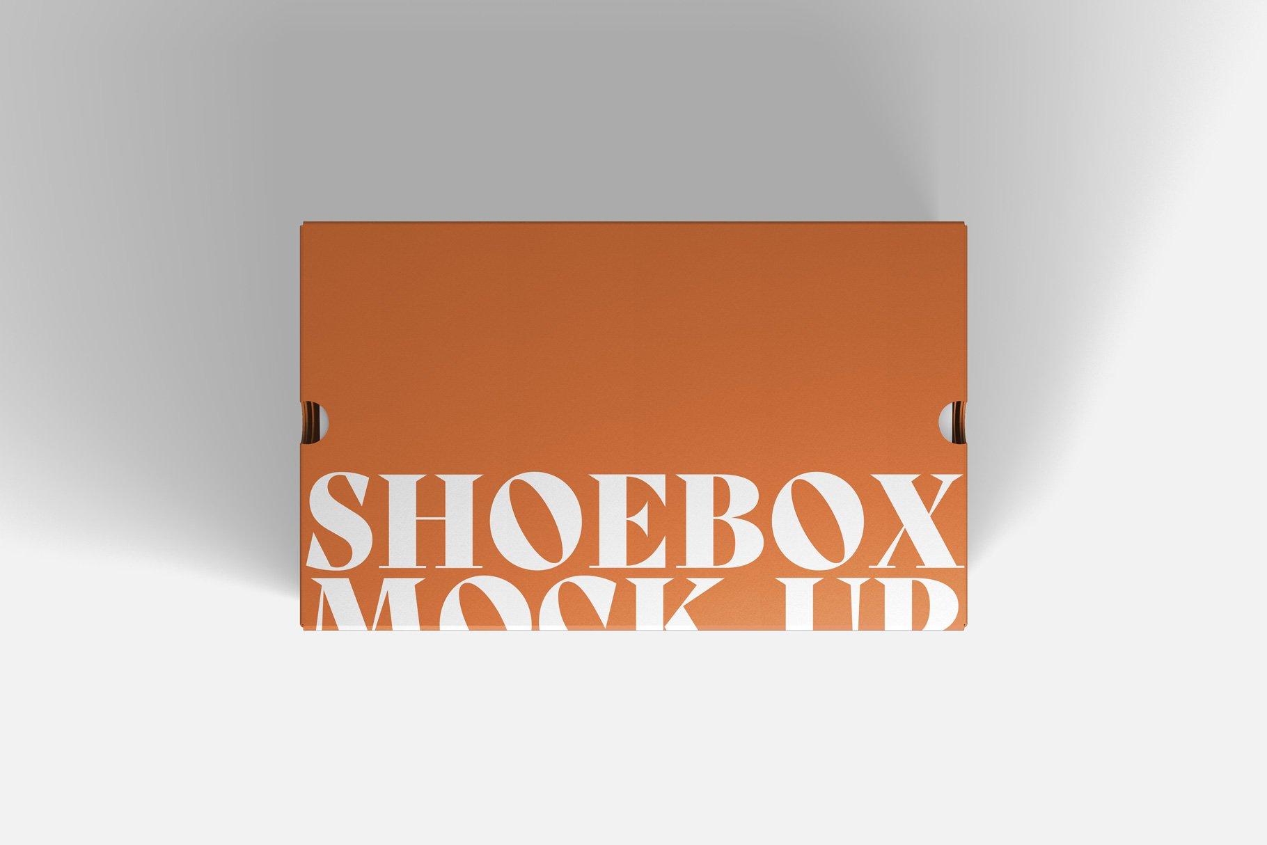 9款鞋盒包装纸盒设计展示样机 Shoe Box Mockup插图1