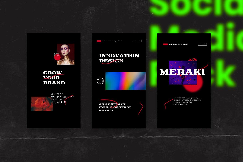 潮流潮牌品牌推广新媒体电商海报设计PS模板素材 MERAKI – Social Media Brand Pack插图13