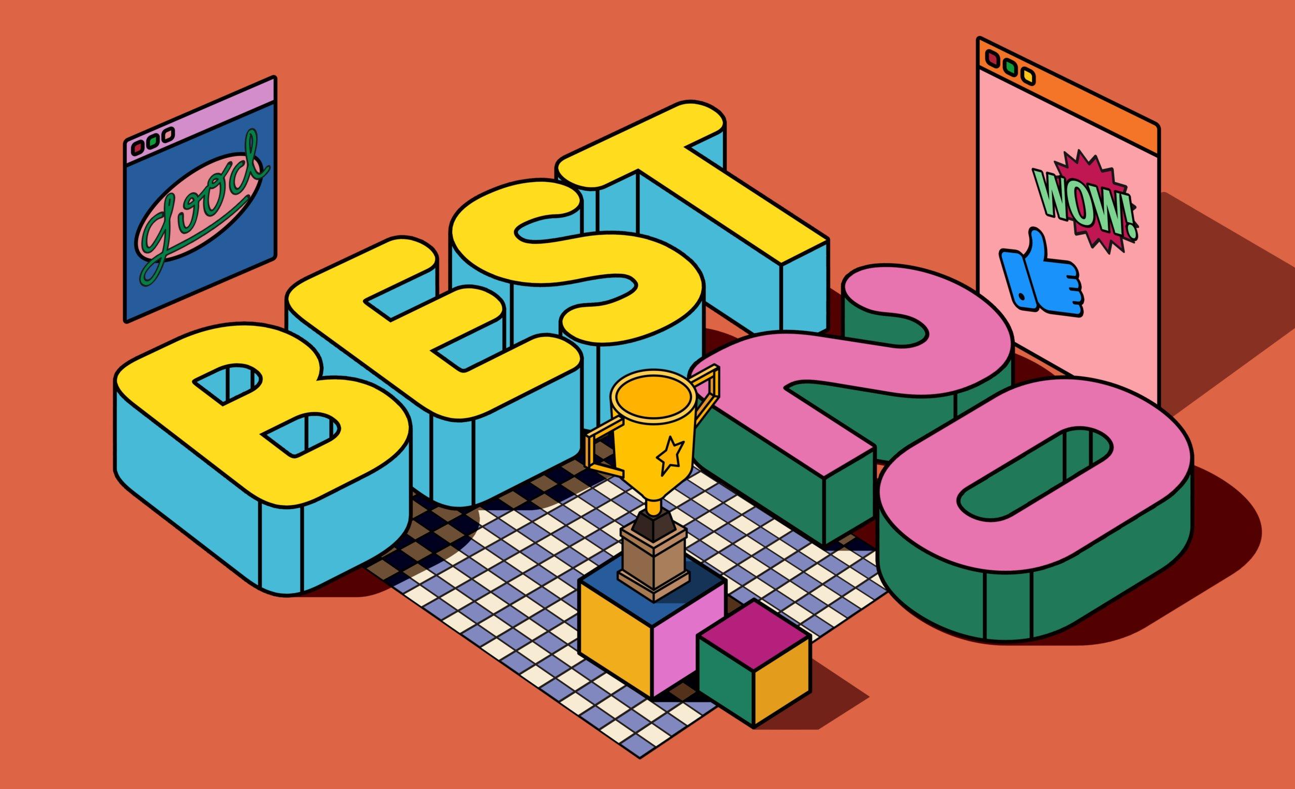 [单独购买] 13款潮流炫彩复古撞色孟菲斯几何插图插画AI设计素材 Colorful Memphis Vector Material插图9