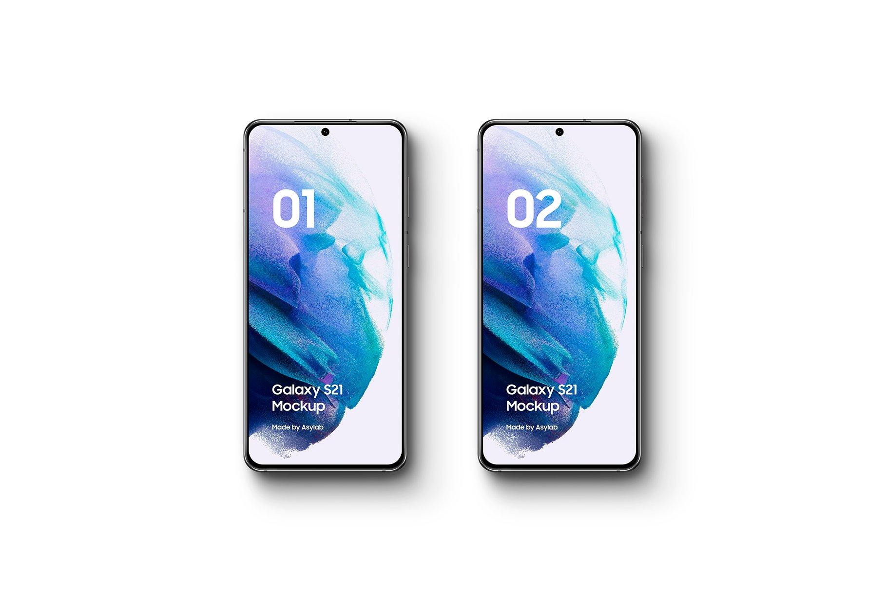 [单独购买] 20款三星Galaxy S21手机网站APP界面设计演示样机模板套件 Galaxy S21 – 20 Mockups Scenes插图6