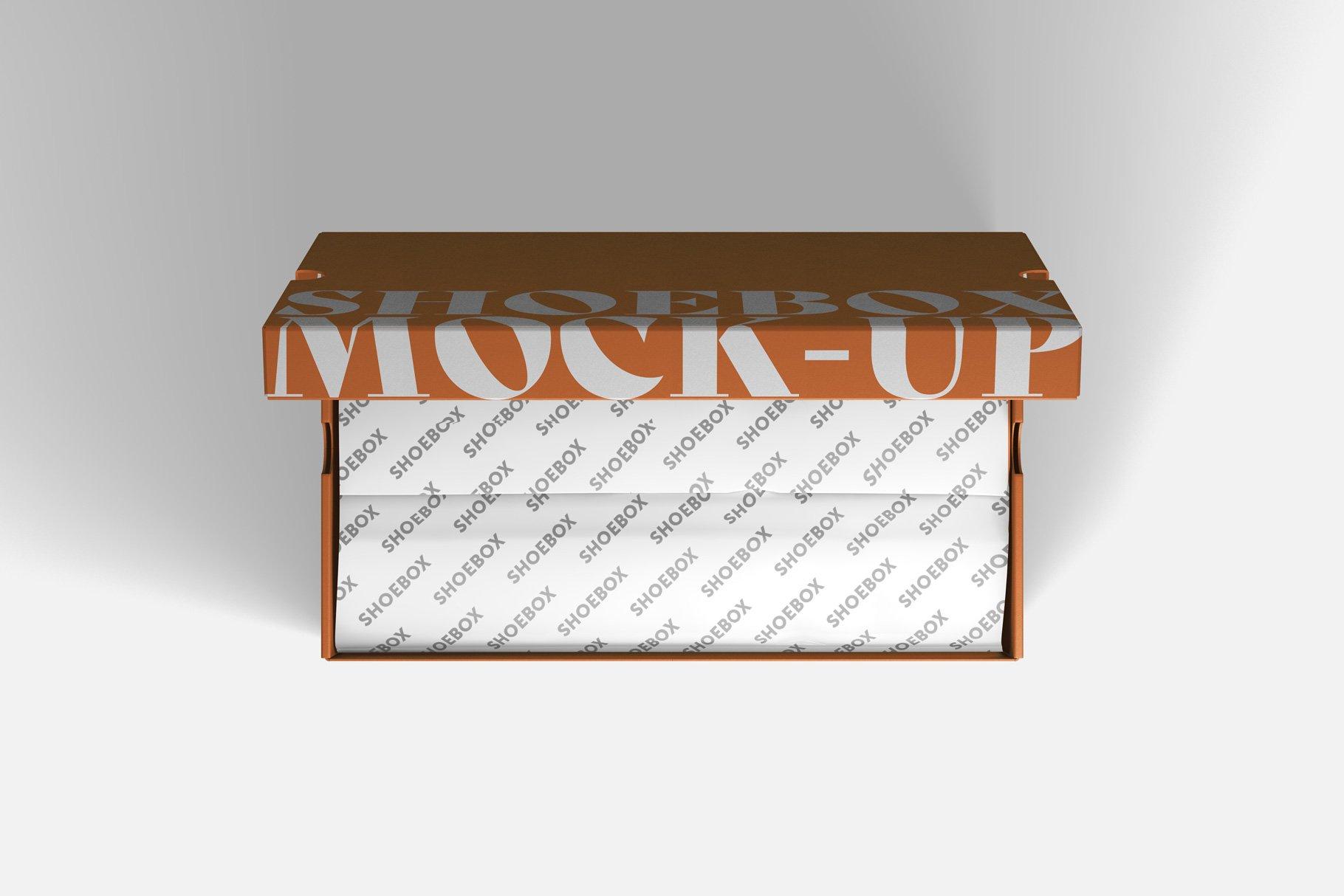 9款鞋盒包装纸盒设计展示样机 Shoe Box Mockup插图2