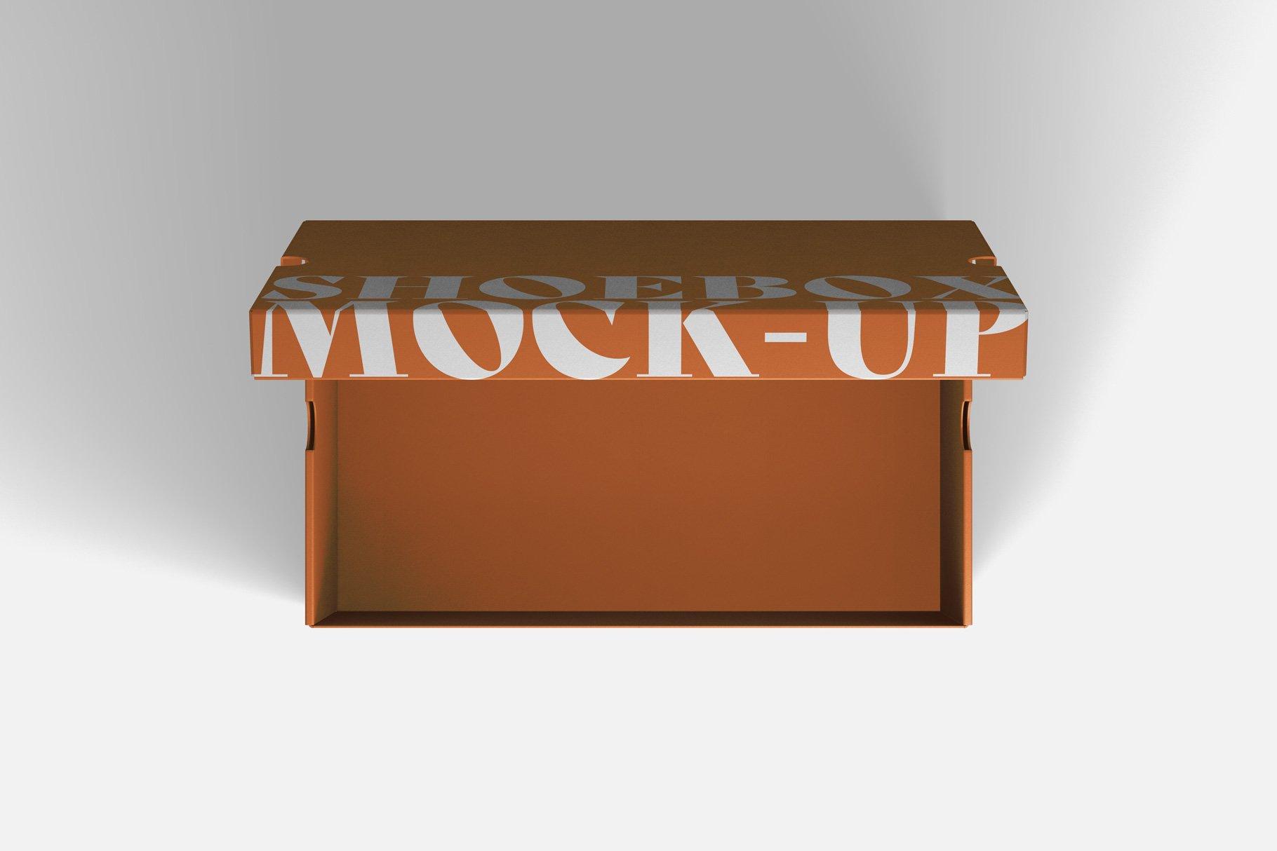 9款鞋盒包装纸盒设计展示样机 Shoe Box Mockup插图3