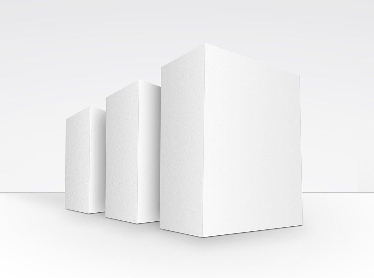 方形产品包装盒设计展示贴图样机模板 Product Box Mock-Up 09插图2