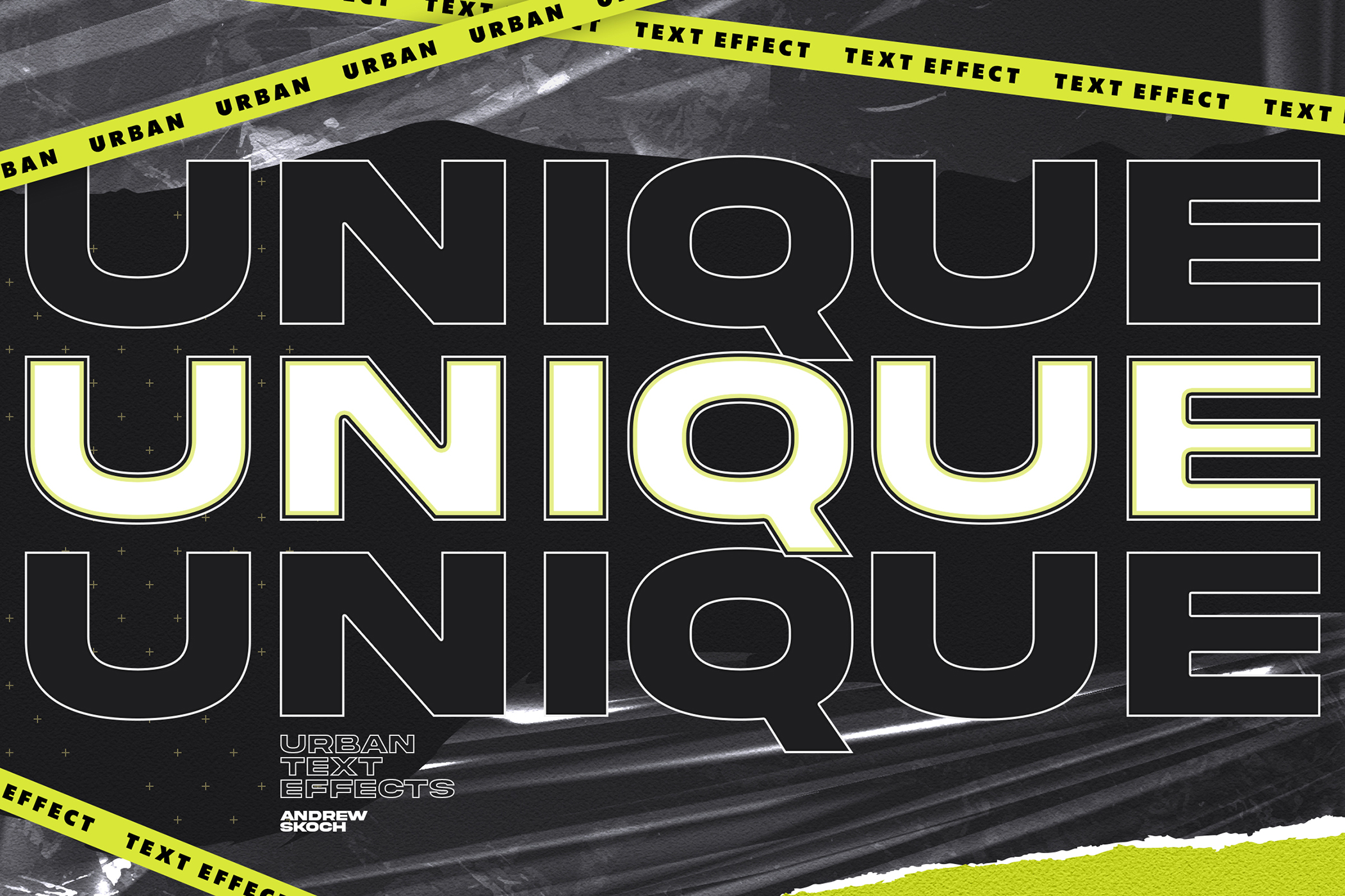 潮流城市风海报标题徽标Logo设计PS样式模板素材 Urban Text Effects插图2