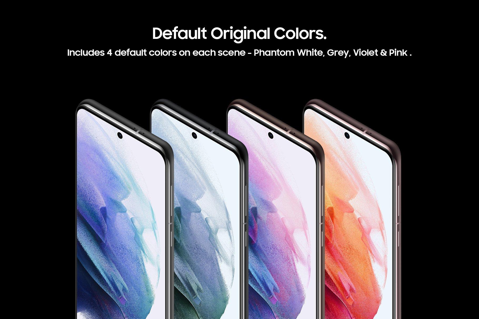 [单独购买] 20款三星Galaxy S21手机网站APP界面设计演示样机模板套件 Galaxy S21 – 20 Mockups Scenes插图2