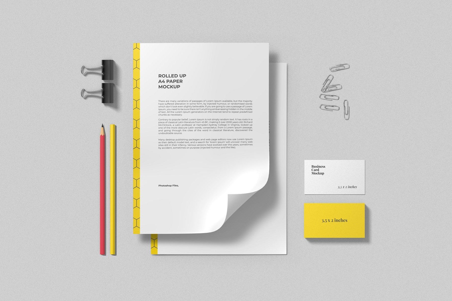 12个时尚简约品牌Logo设计办公用品展示贴图样机模板套装 Branding Mockup Scene Creator插图5