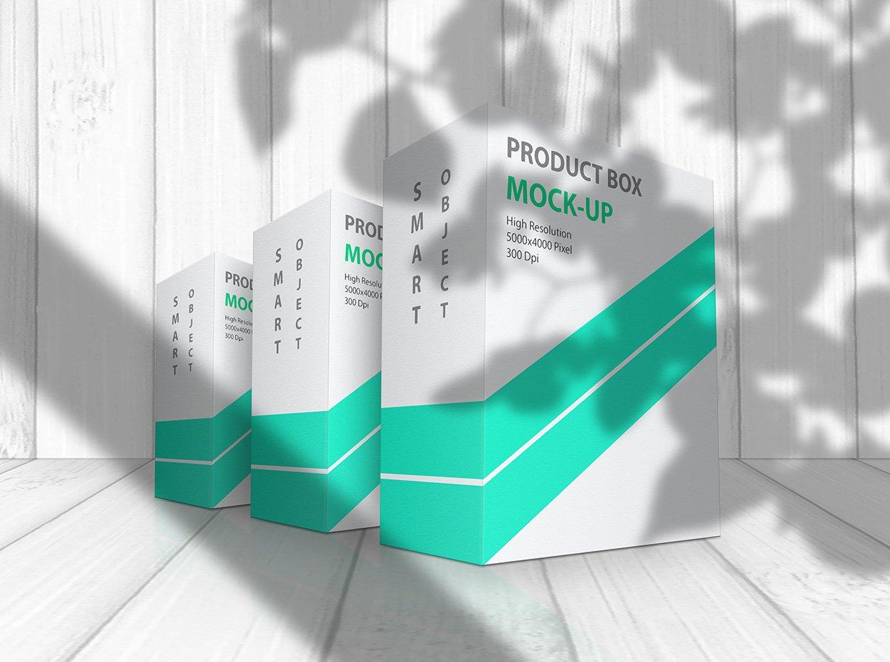 方形产品包装盒设计展示贴图样机模板 Product Box Mock-Up 09插图5