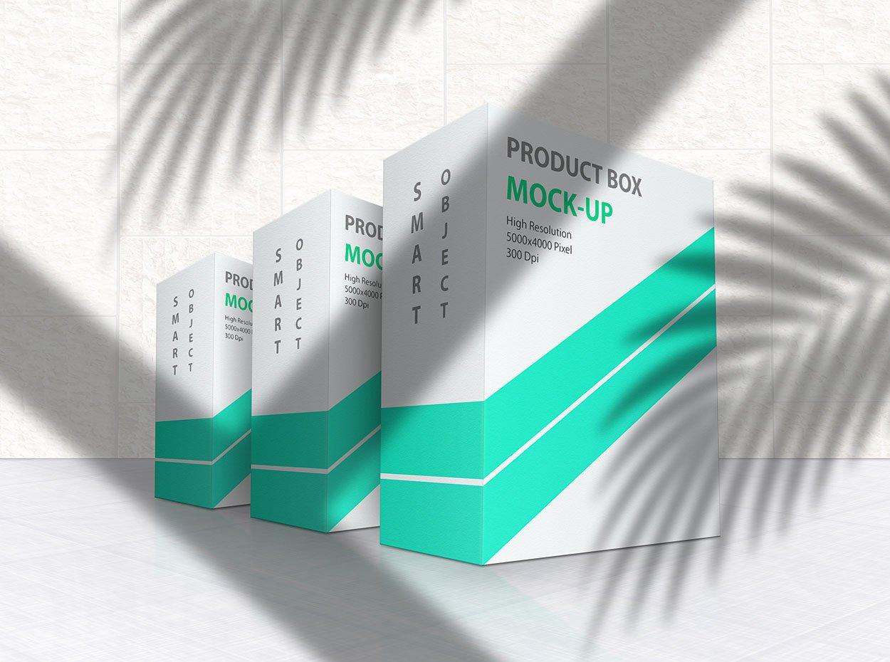 方形产品包装盒设计展示贴图样机模板 Product Box Mock-Up 09插图6
