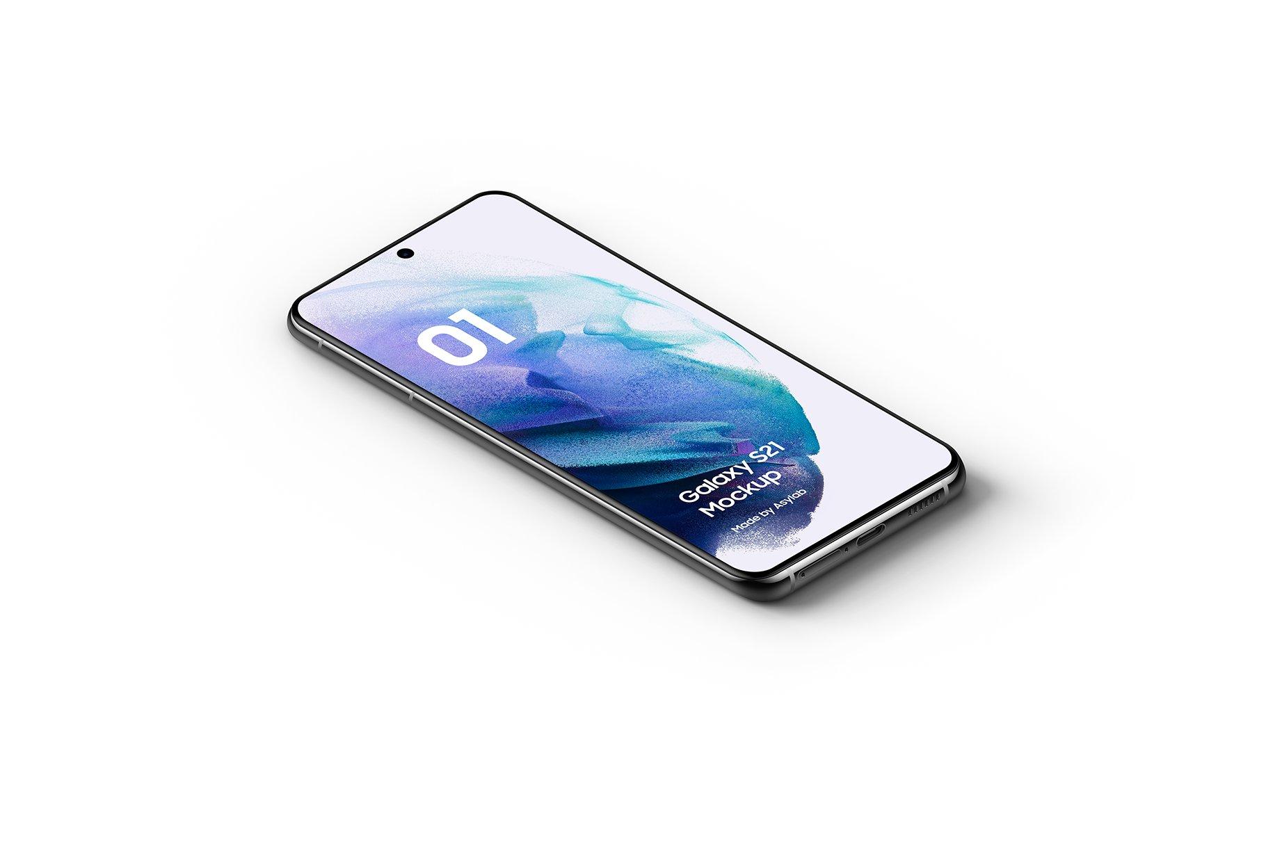 [单独购买] 20款三星Galaxy S21手机网站APP界面设计演示样机模板套件 Galaxy S21 – 20 Mockups Scenes插图10