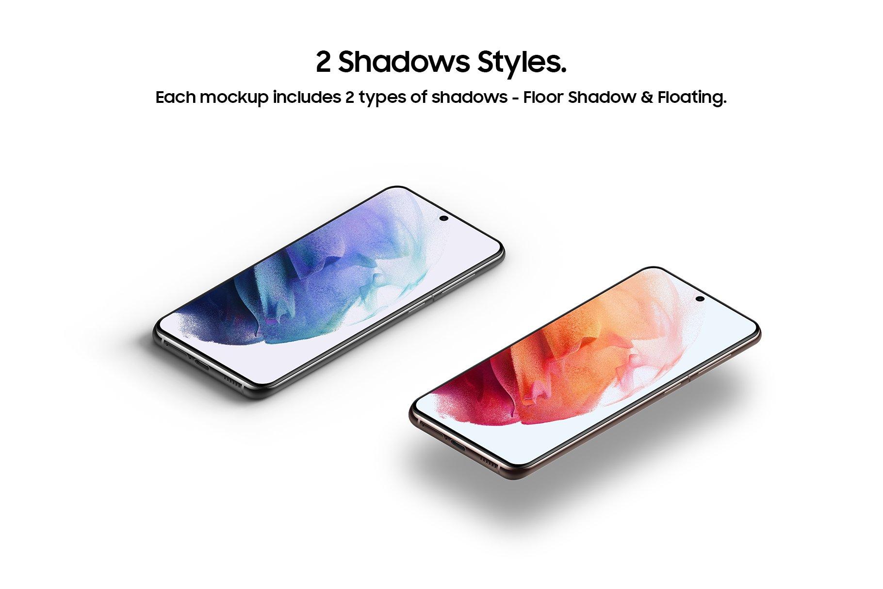 [单独购买] 20款三星Galaxy S21手机网站APP界面设计演示样机模板套件 Galaxy S21 – 20 Mockups Scenes插图11