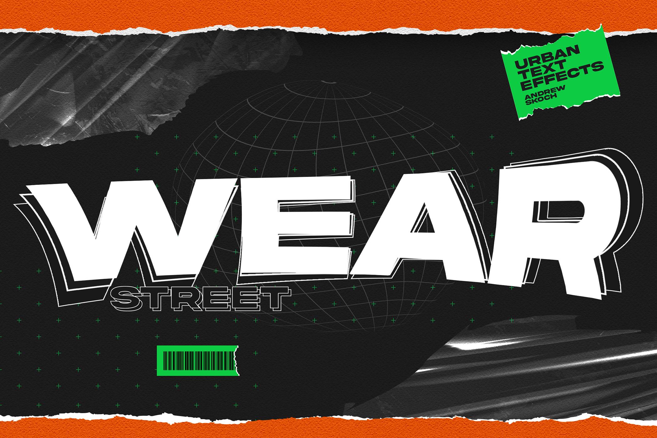 潮流城市风海报标题徽标Logo设计PS样式模板素材 Urban Text Effects插图5