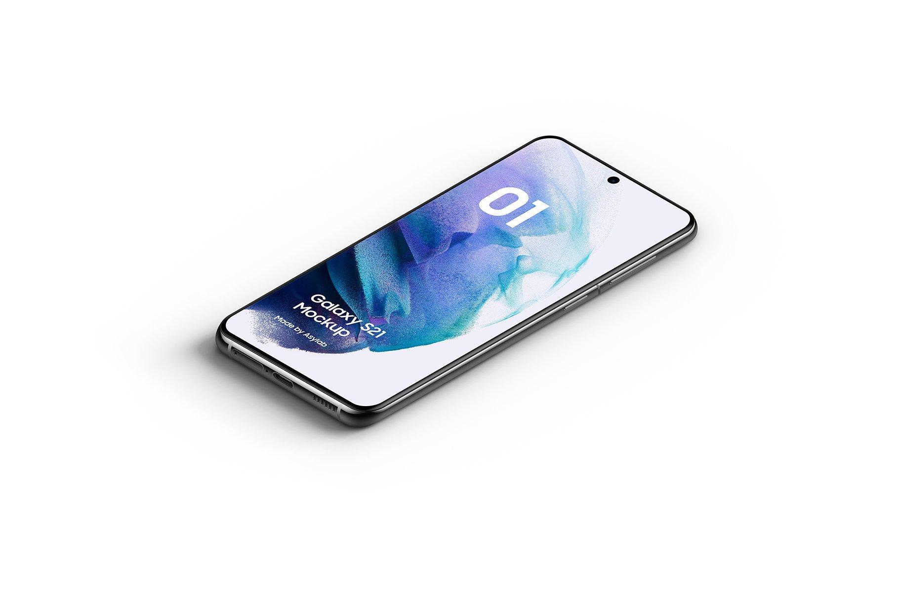 [单独购买] 20款三星Galaxy S21手机网站APP界面设计演示样机模板套件 Galaxy S21 – 20 Mockups Scenes插图12
