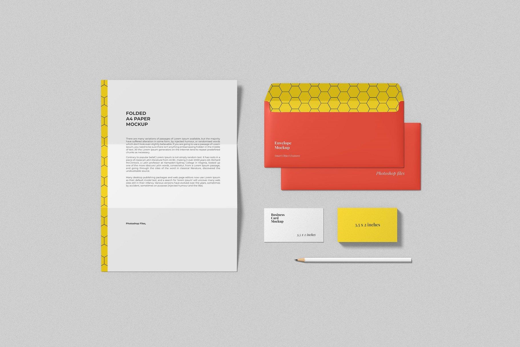 12个时尚简约品牌Logo设计办公用品展示贴图样机模板套装 Branding Mockup Scene Creator插图8