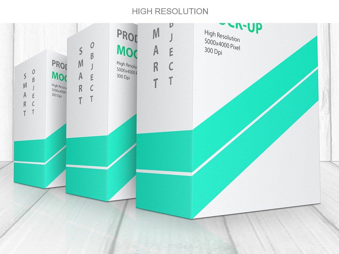 方形产品包装盒设计展示贴图样机模板 Product Box Mock-Up 09插图9