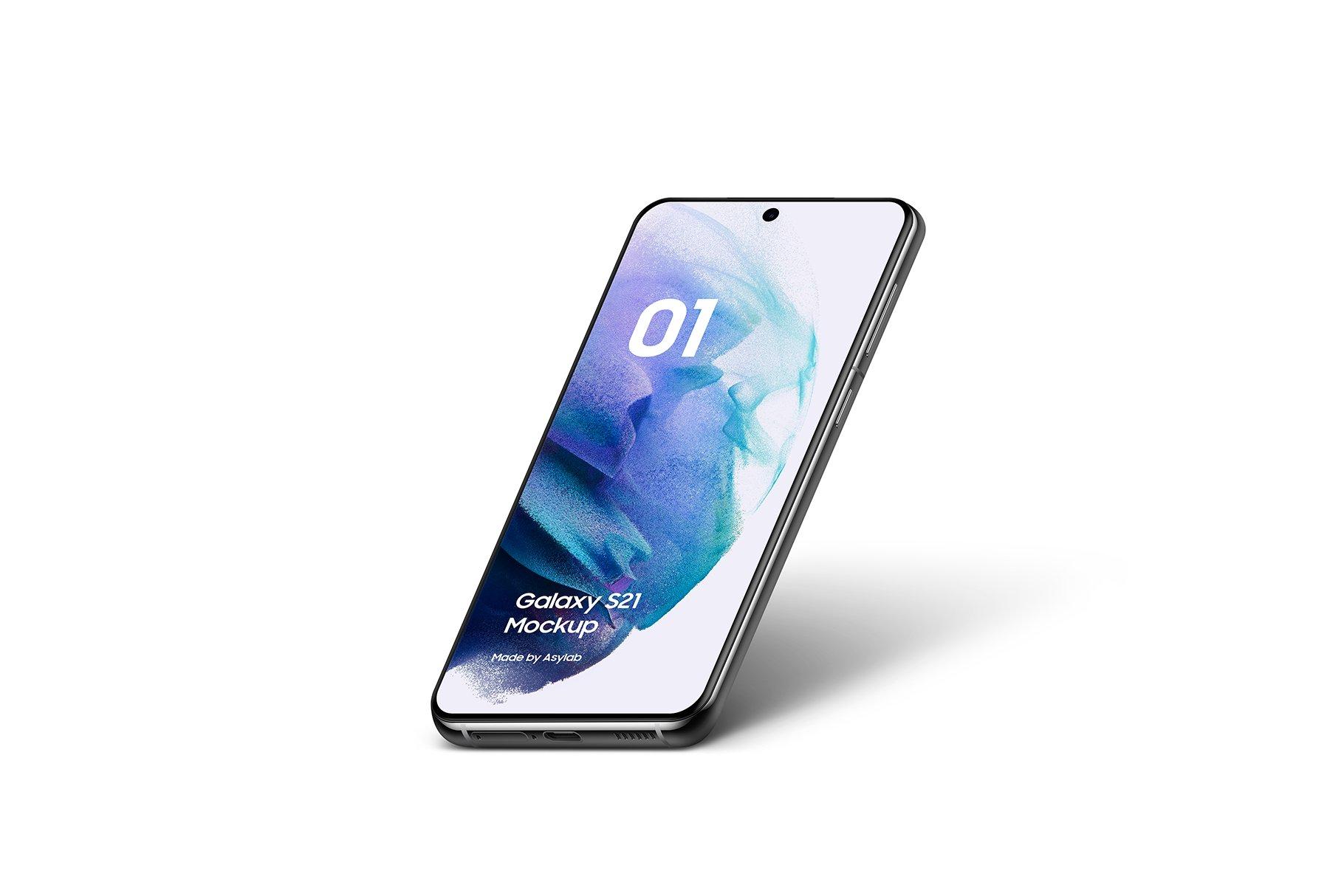 [单独购买] 20款三星Galaxy S21手机网站APP界面设计演示样机模板套件 Galaxy S21 – 20 Mockups Scenes插图14