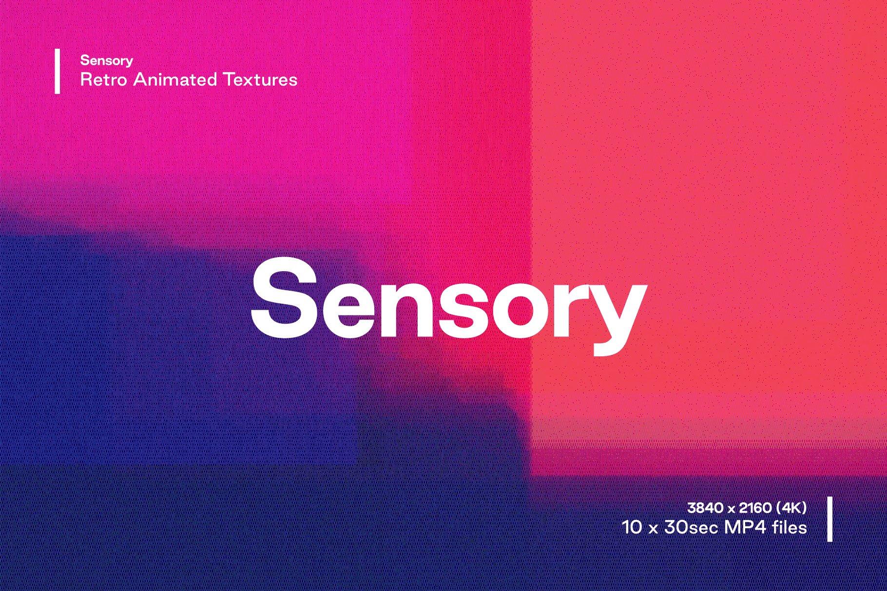 [单独购买] 潮流故障颗粒网格渐变VHS样式纹理背景图片视频设计素材套装 Studio 2am – Sensory – Retro Animated Textures插图